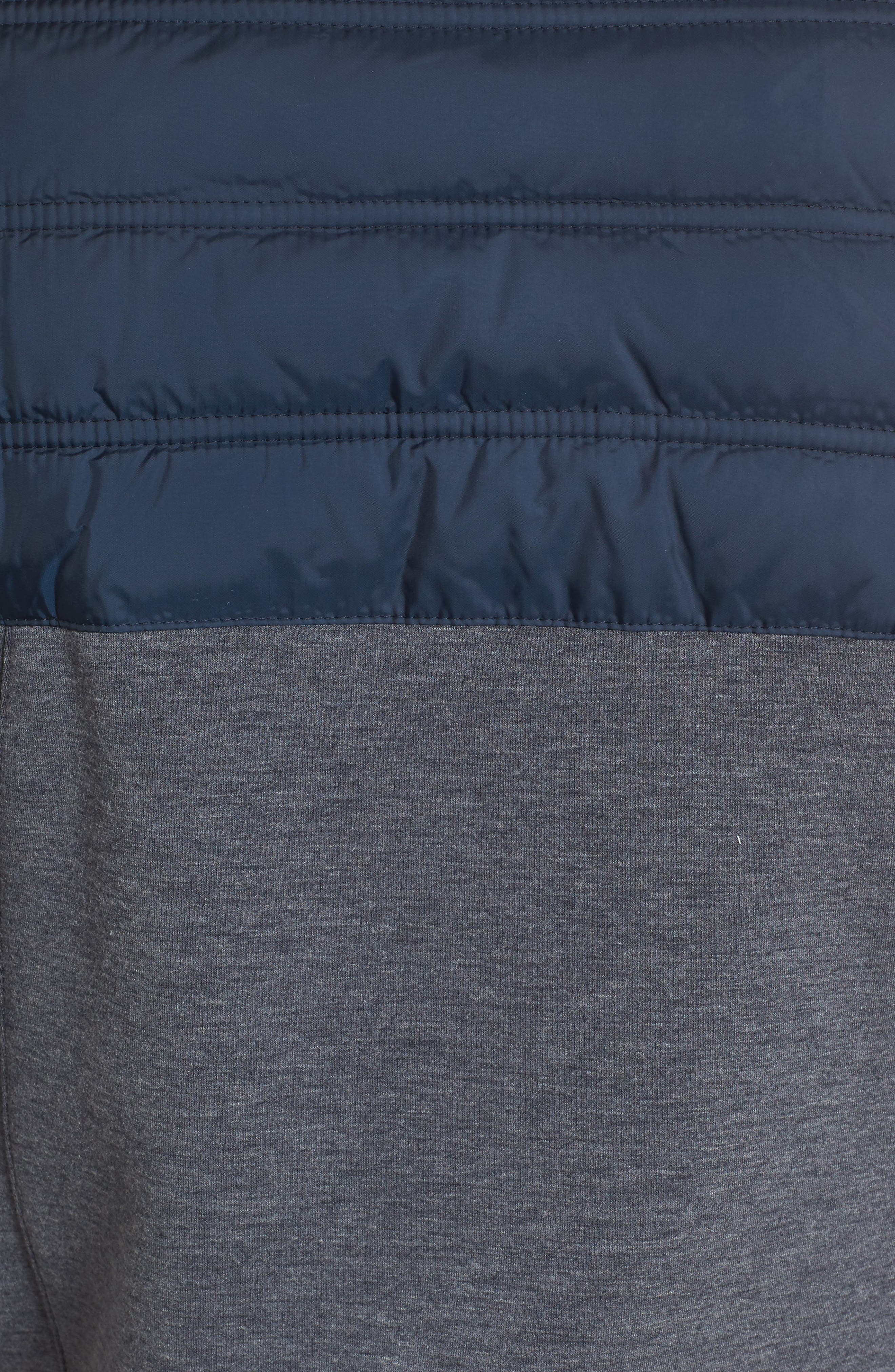 Selsey Zip Sweater,                             Alternate thumbnail 5, color,                             Navy Marl