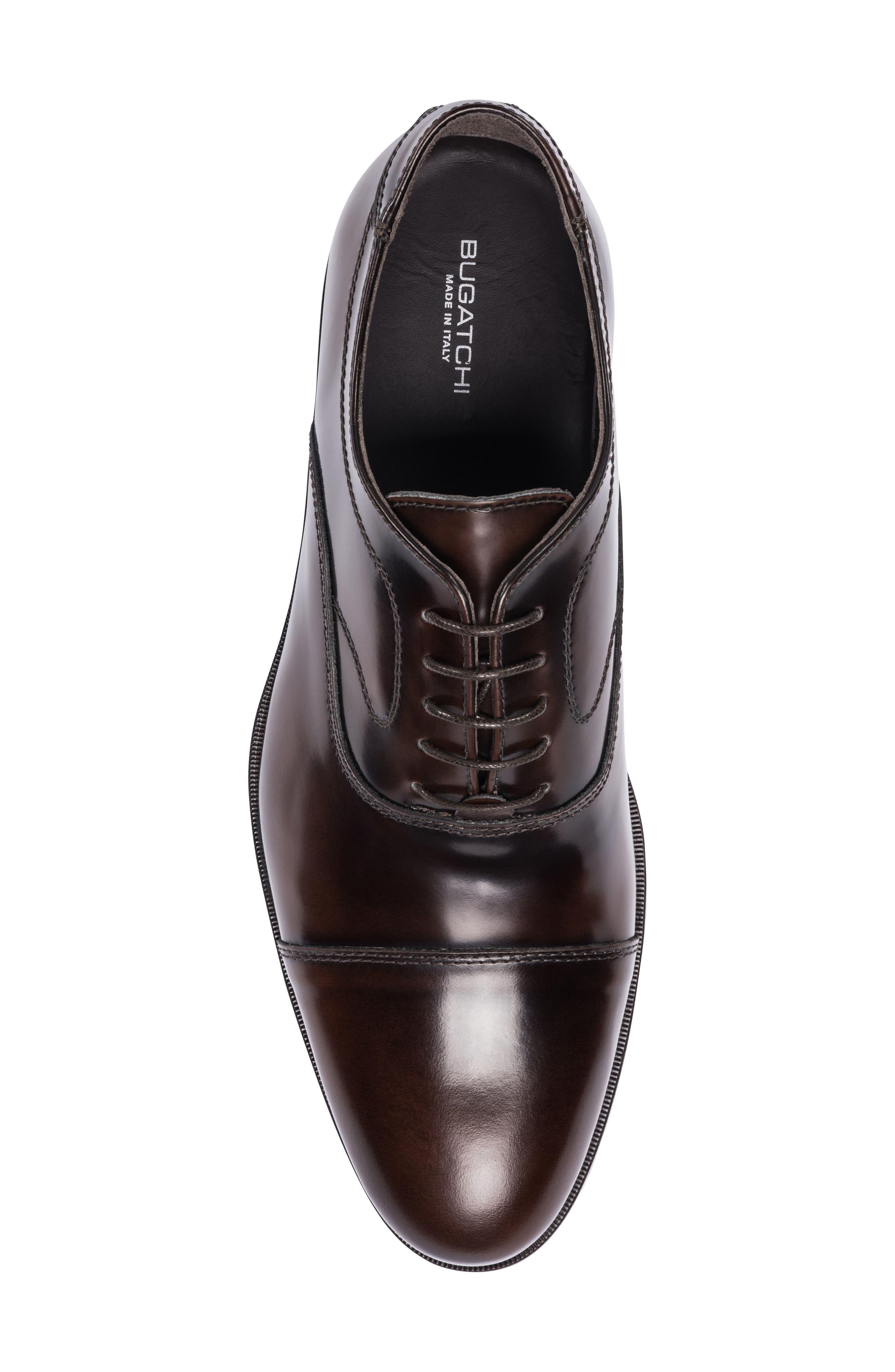 Garda Cap Toe Oxford,                             Alternate thumbnail 5, color,                             Brown Leather