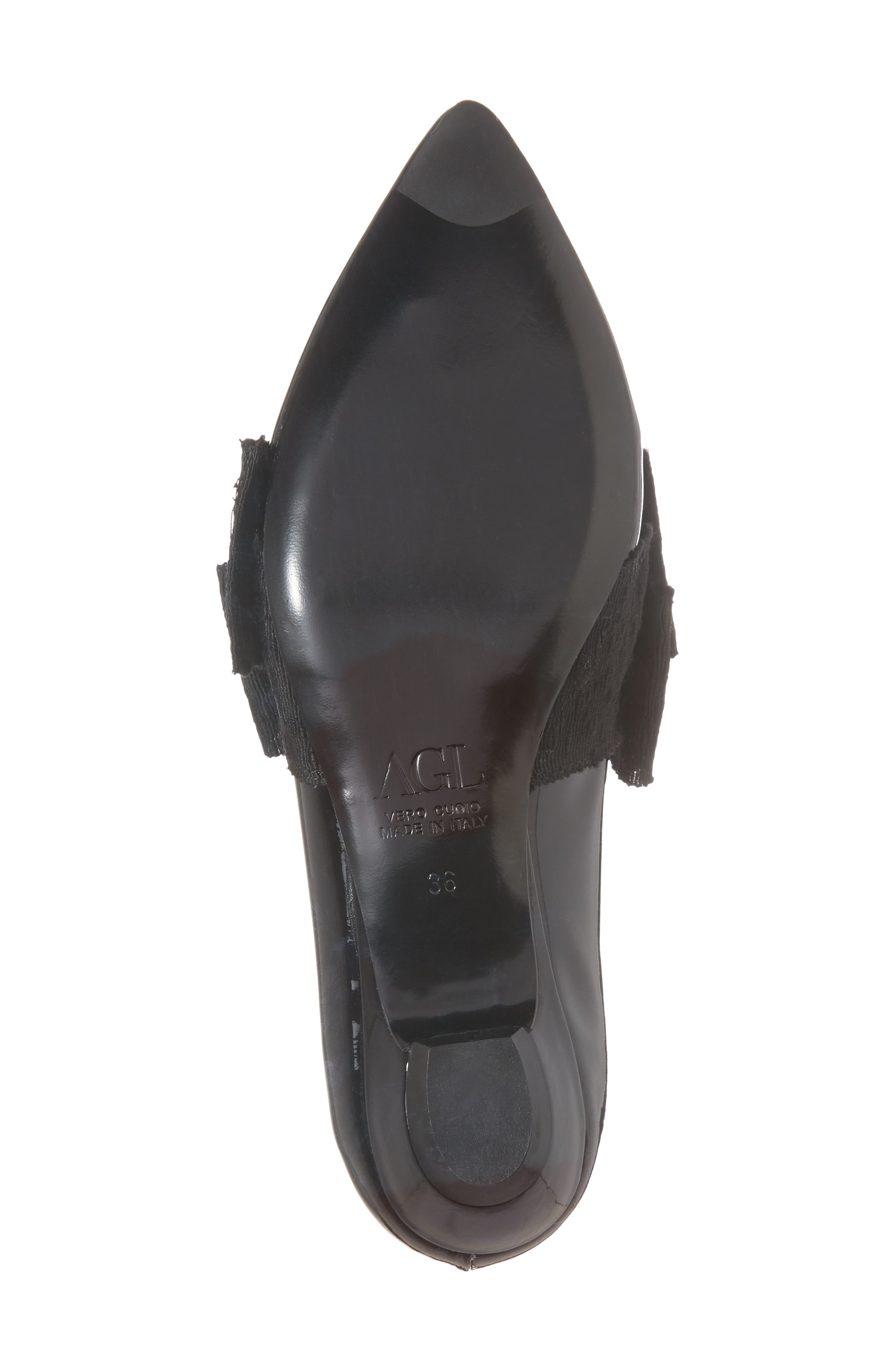 Maggie Bow Loafer,                             Alternate thumbnail 6, color,                             Black Patent