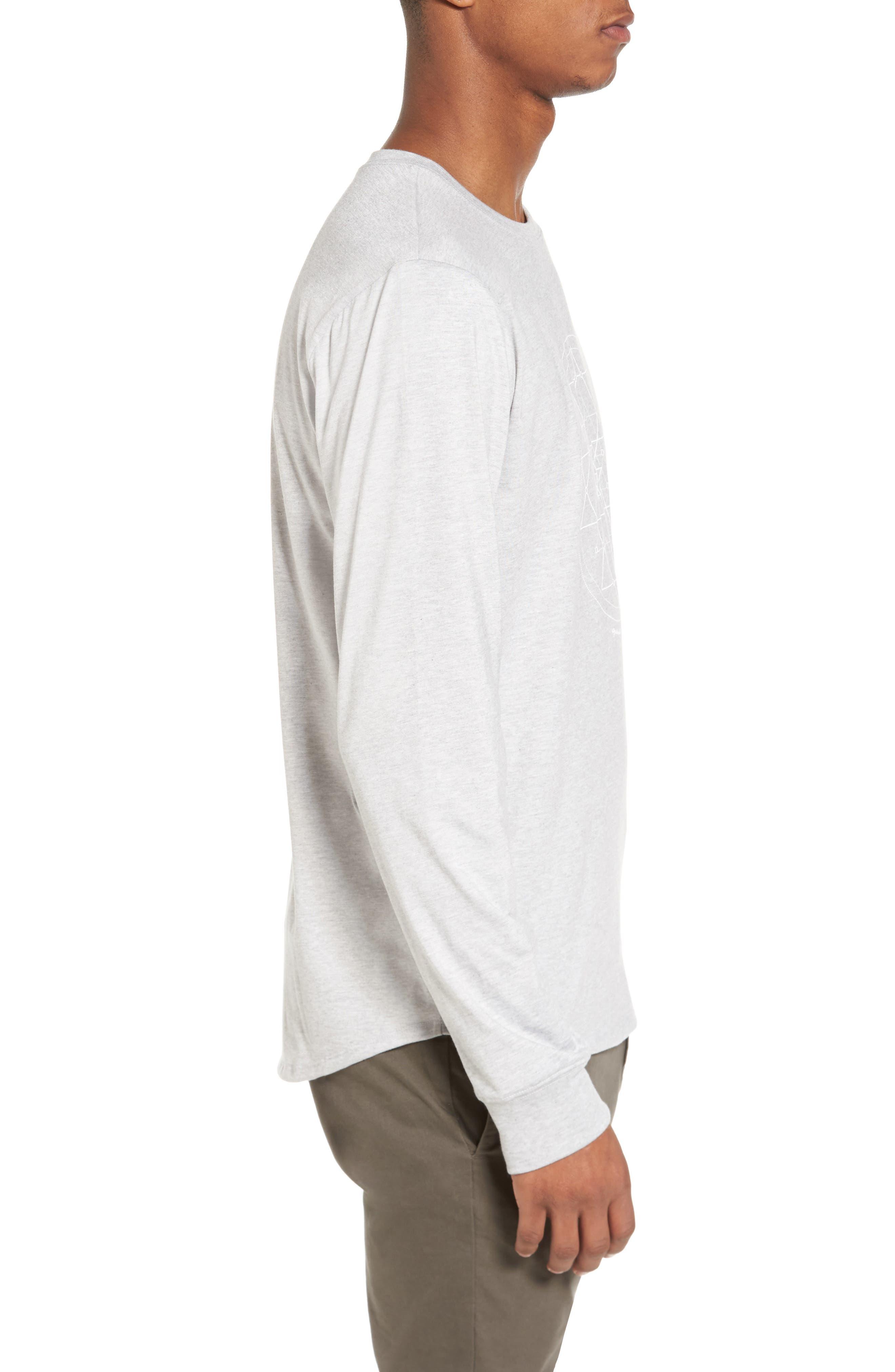 Yantra Long Sleeve T-Shirt,                             Alternate thumbnail 3, color,                             Heather Grey/ Heather Grey