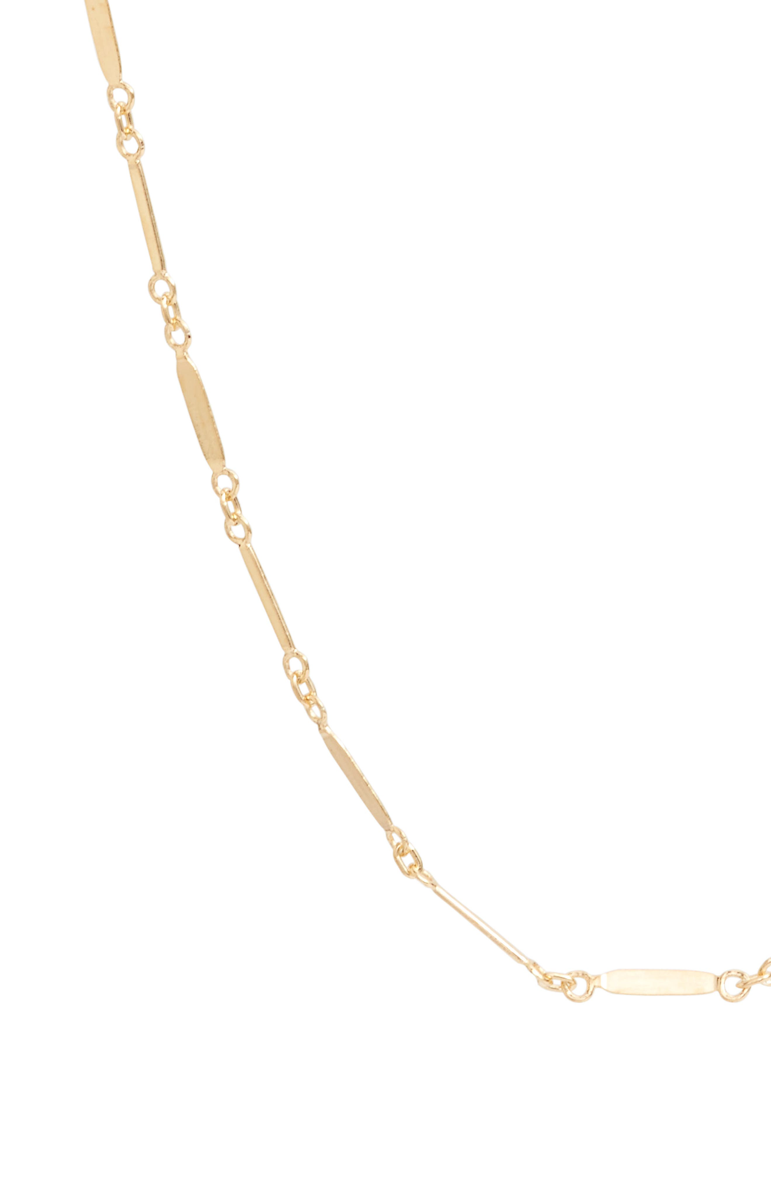 Mirror Bar Station Necklace,                             Alternate thumbnail 2, color,                             Gold