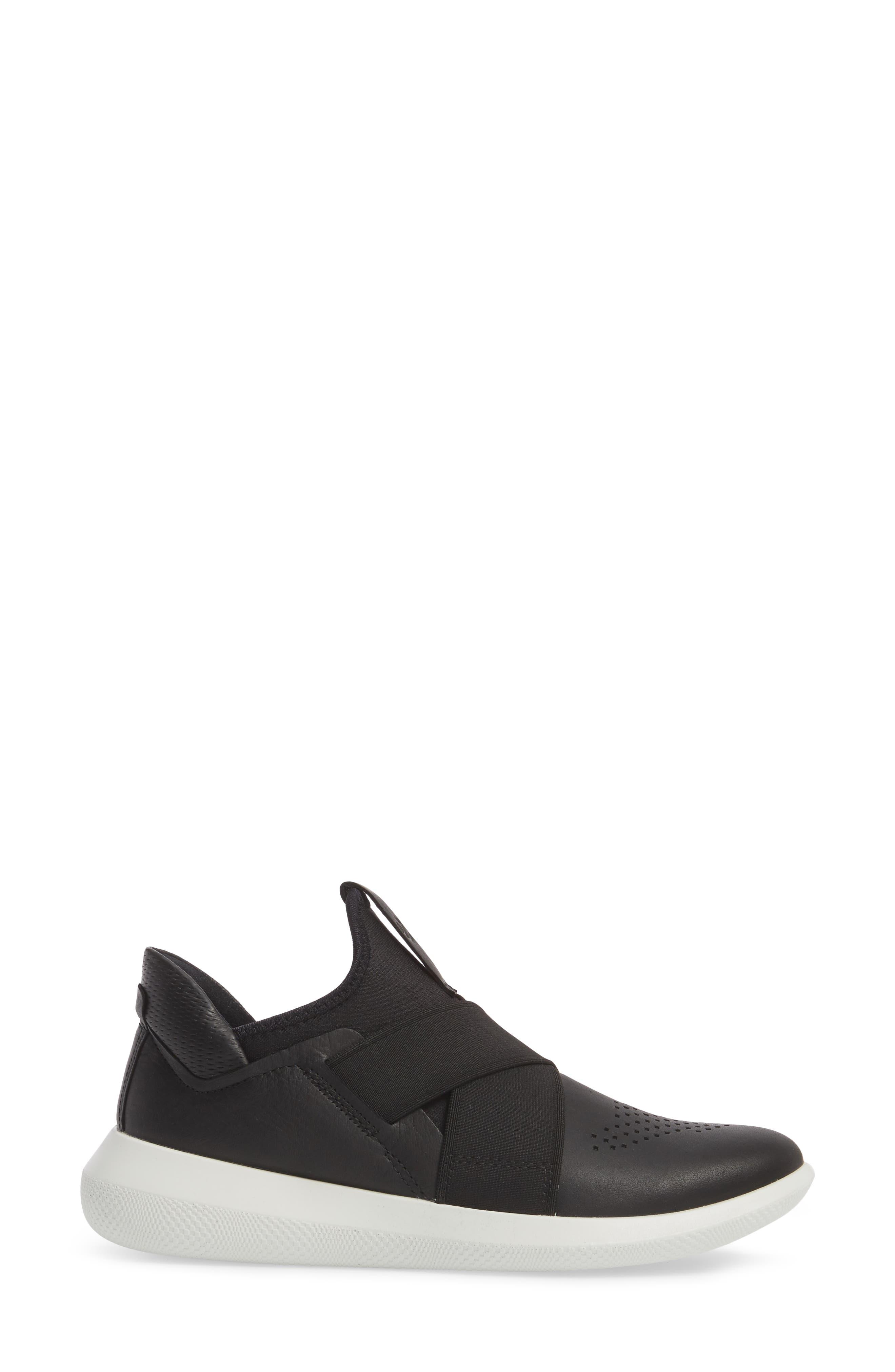 Scinapse Band Sneaker,                             Alternate thumbnail 3, color,                             Black