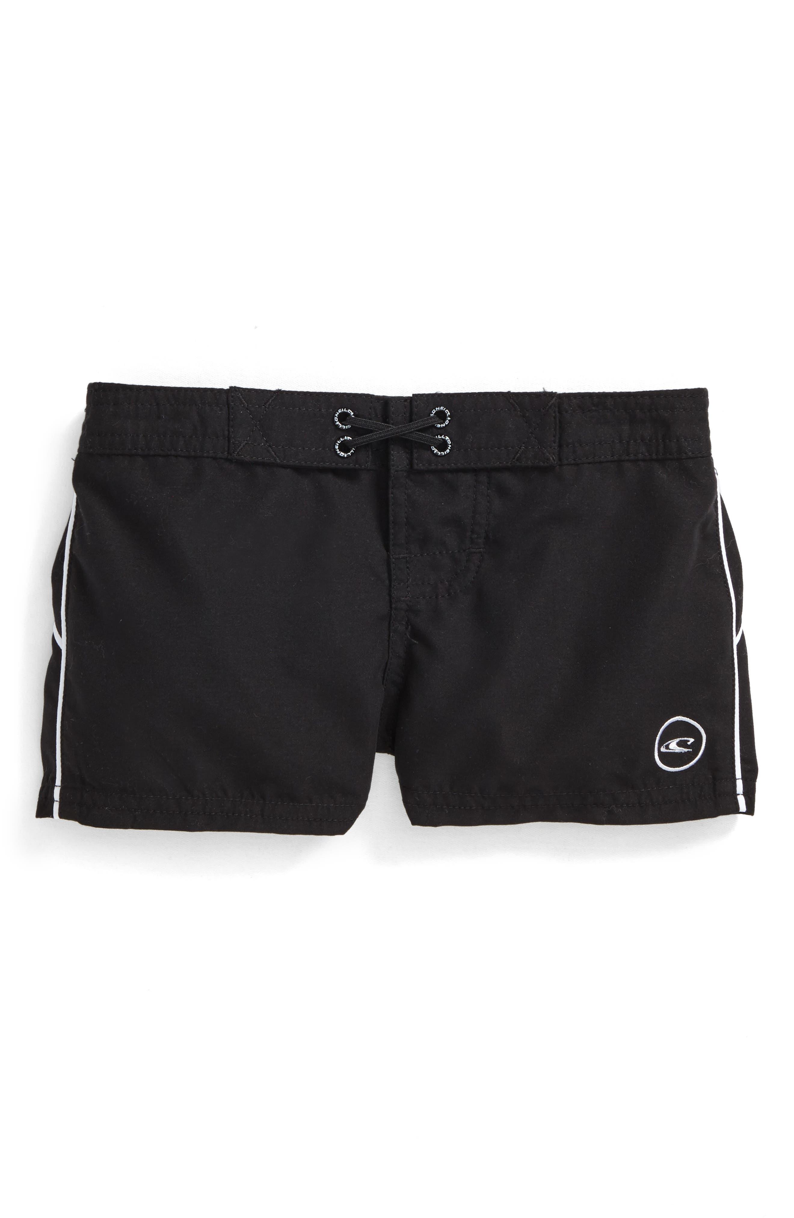 Salt Water Board Shorts,                         Main,                         color, Black - Blk
