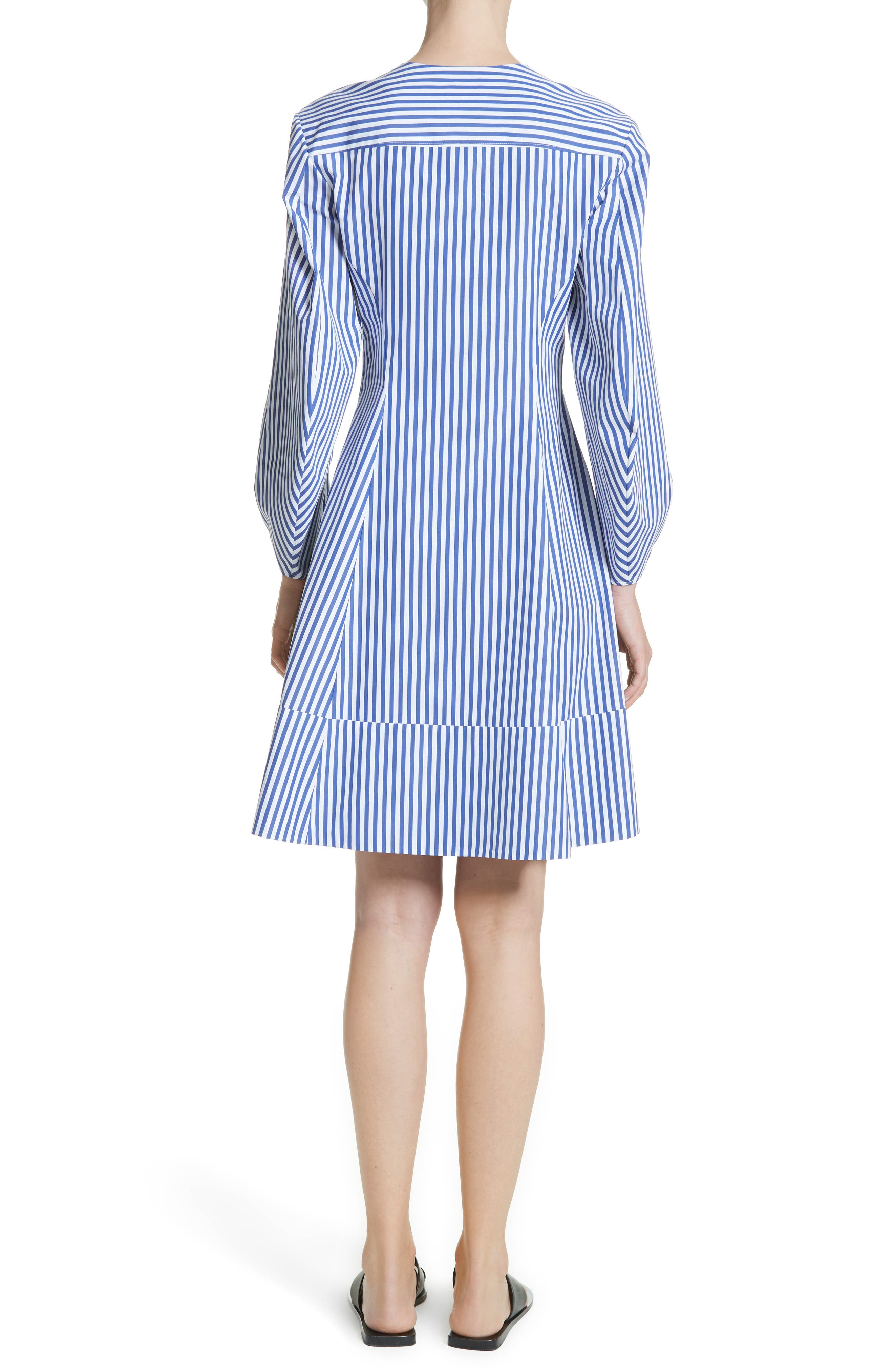 Alternate Image 2  - KHAITE Vanessa Stripe Poplin Minidress