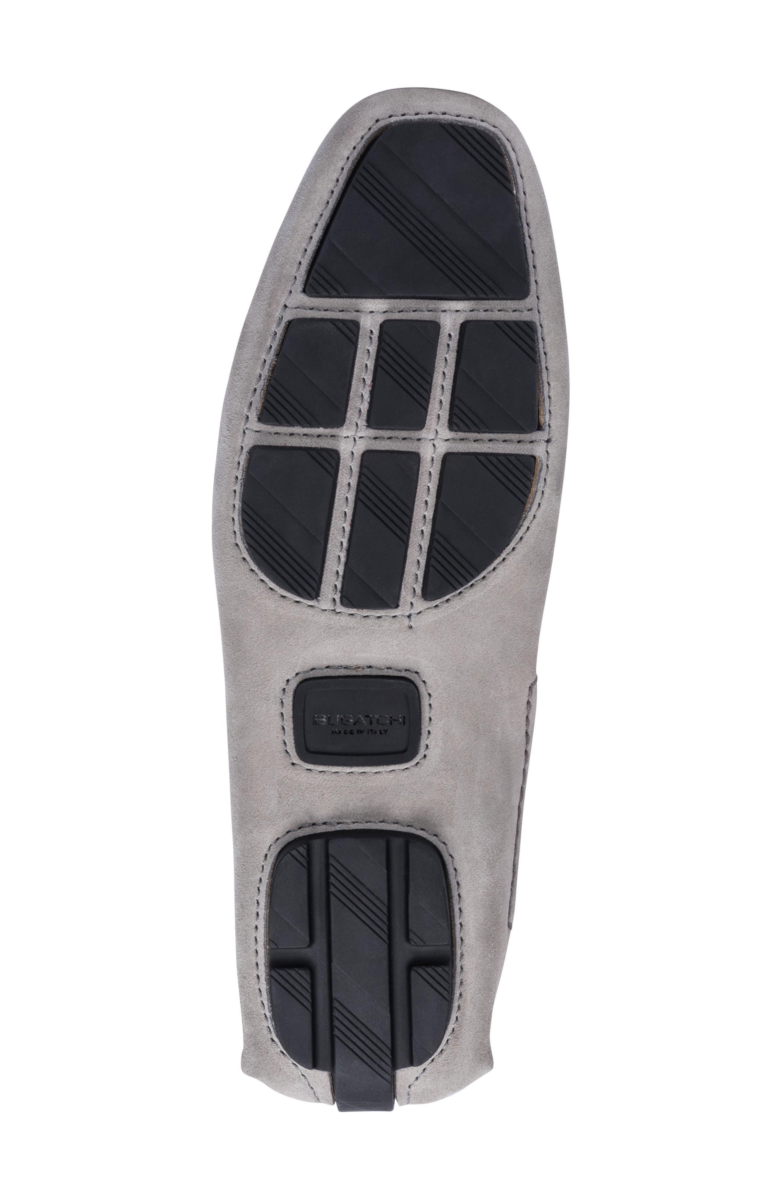 St. Tropez Driving Shoe,                             Alternate thumbnail 6, color,                             Grey Suede