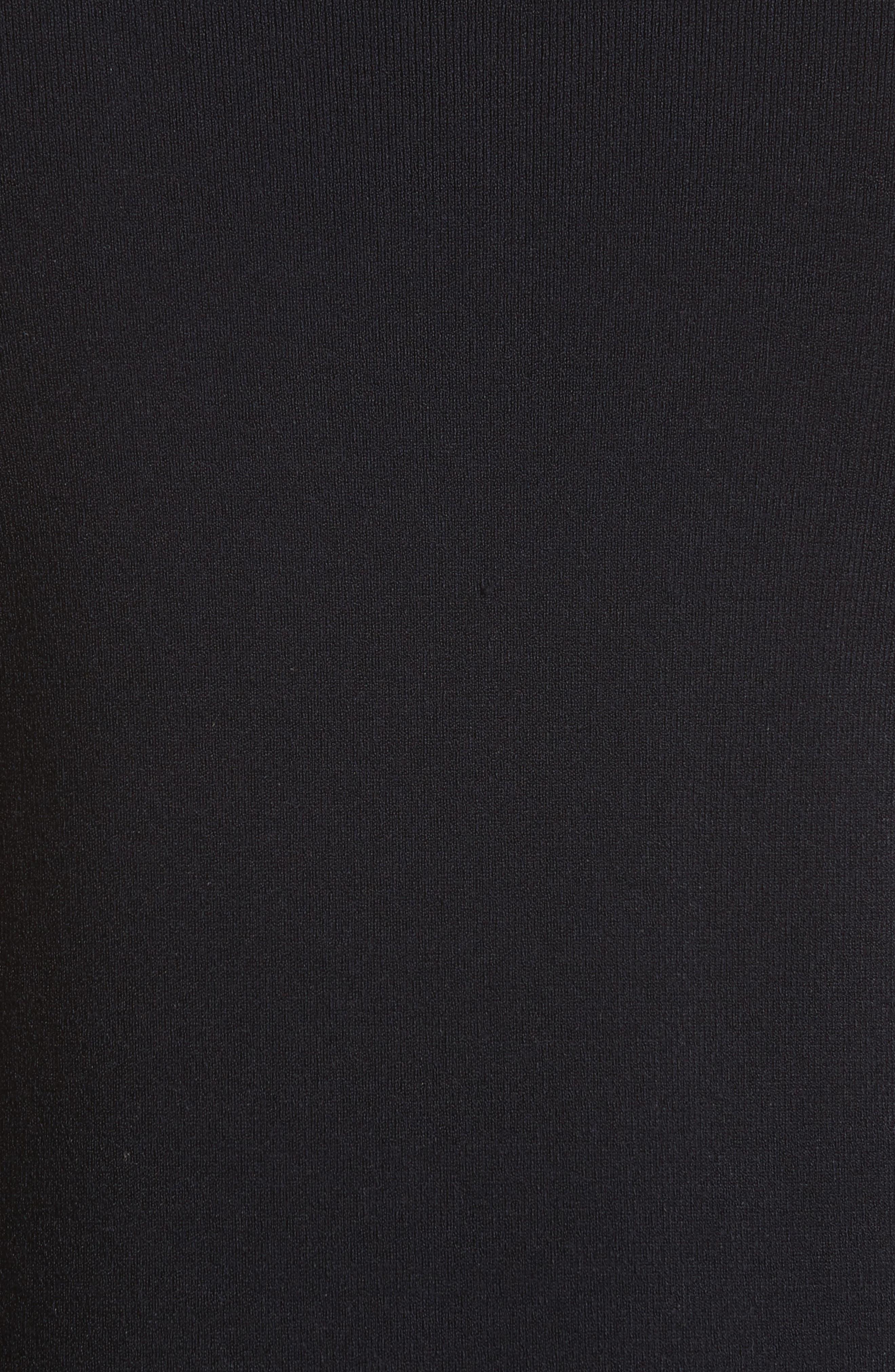 Alvera Mock Neck Side-Tie Tunic,                             Alternate thumbnail 5, color,                             Navy