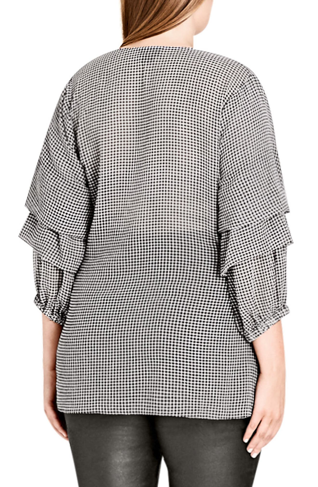 My Desire Check Print Wrap Top,                             Alternate thumbnail 2, color,                             Gingham