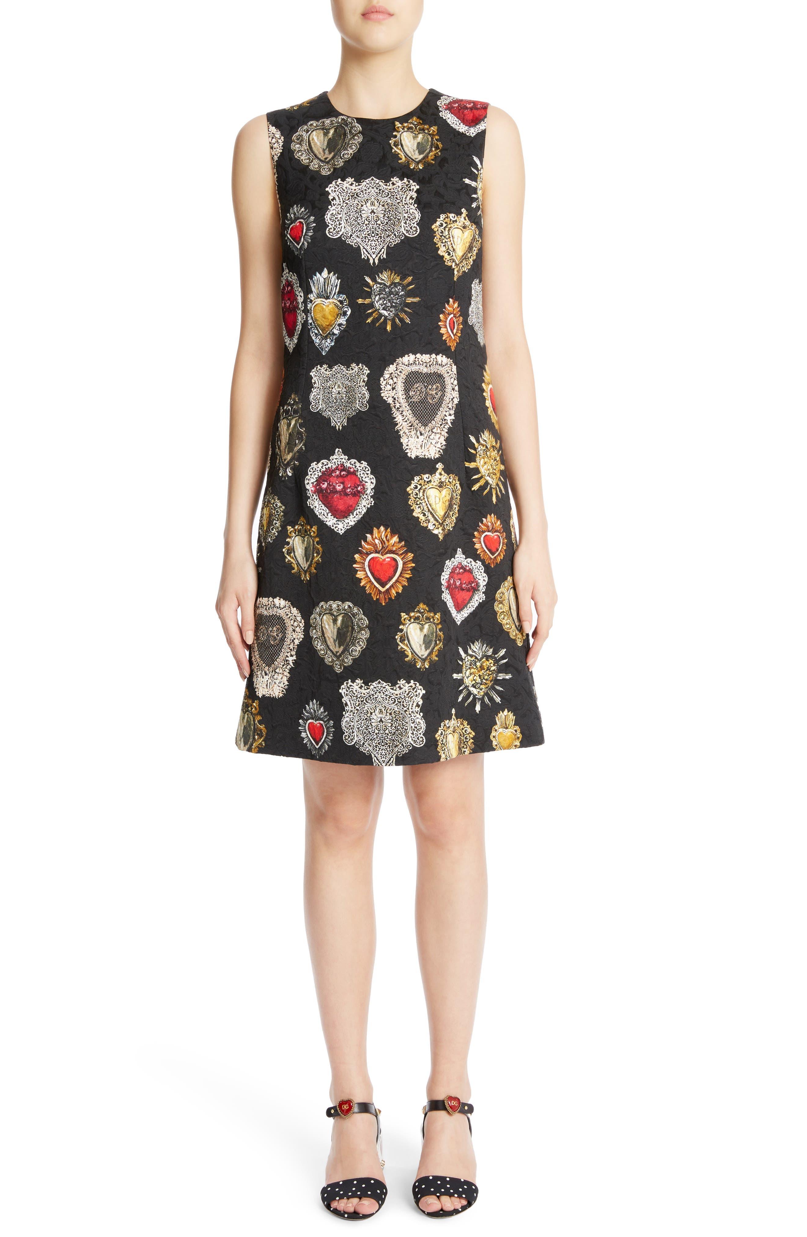 Dolce&Gabbana Sacred Heart Brocade Jacquard Dress