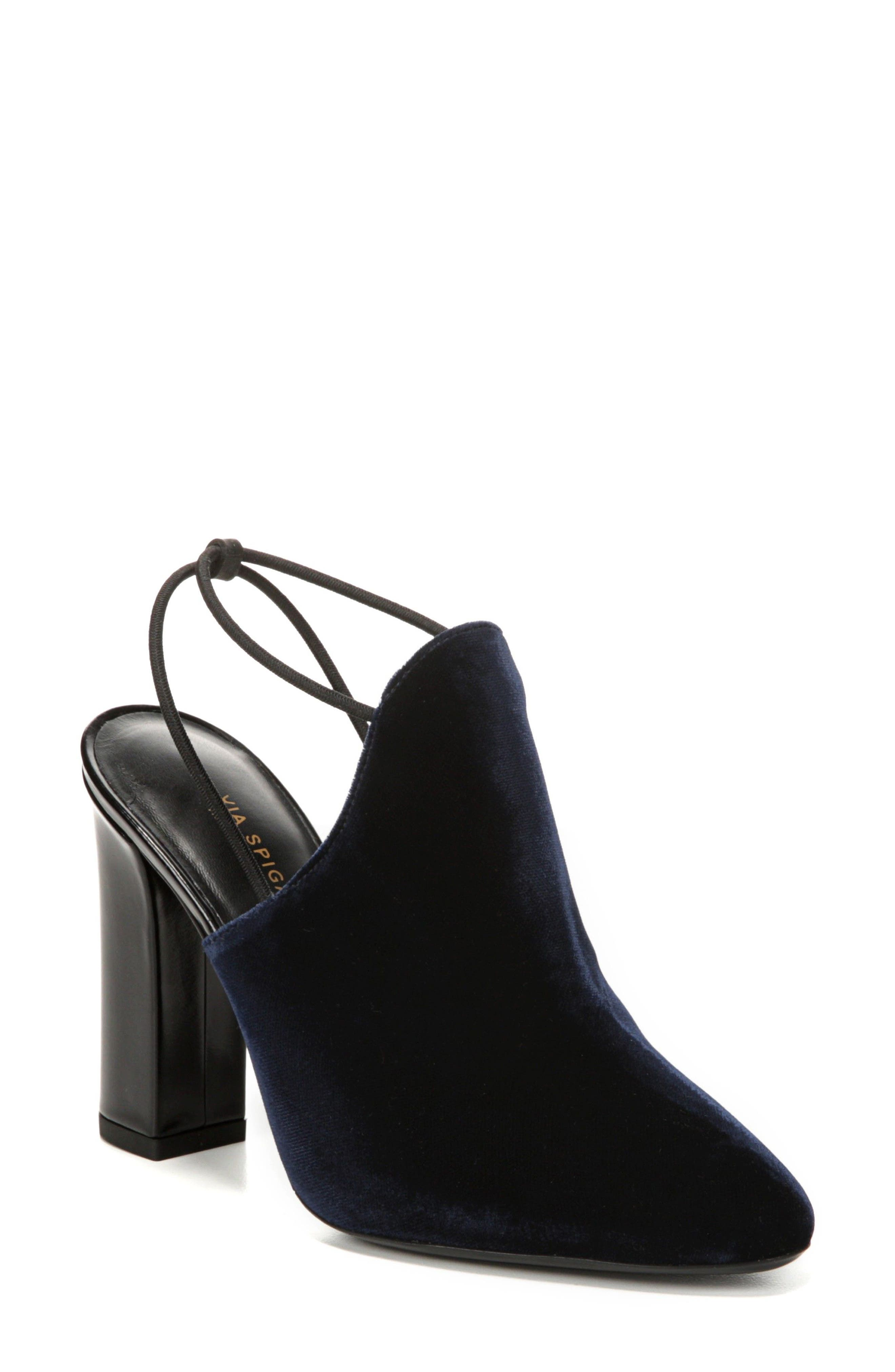 Arina Slingback Pump,                         Main,                         color, Midnight Fabric