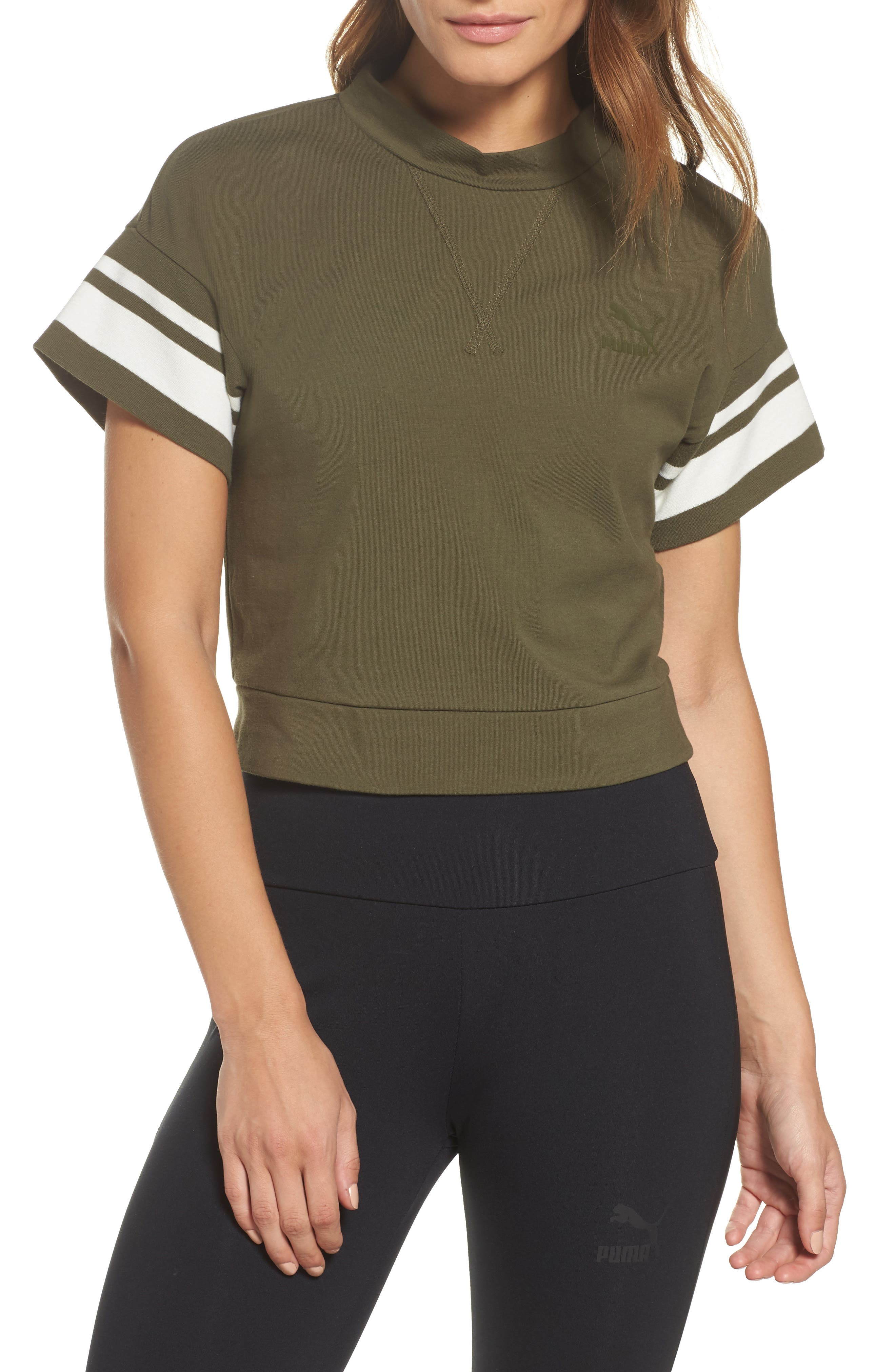 Tipping Tee,                             Main thumbnail 1, color,                             Olive Night