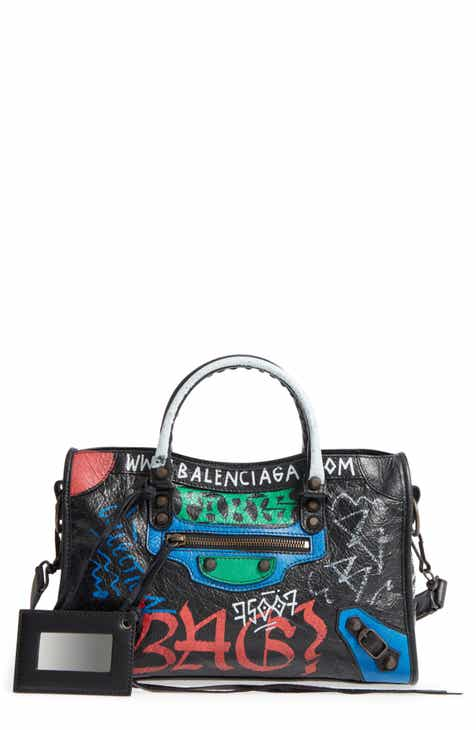 c6cdfac6ca Balenciaga Small Classic City Graffiti Leather Tote