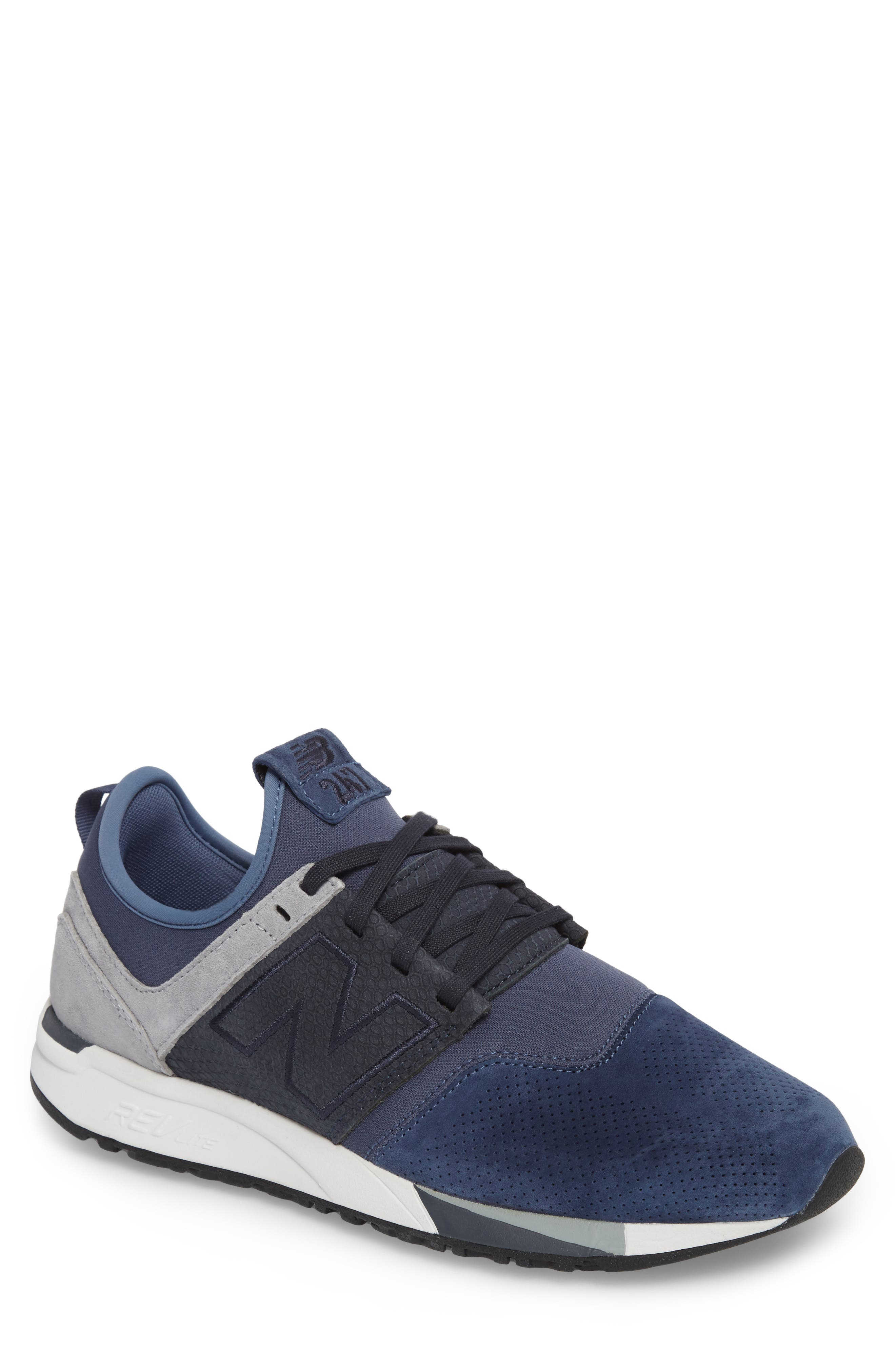 247 Luxe Sneaker,                         Main,                         color, Blue
