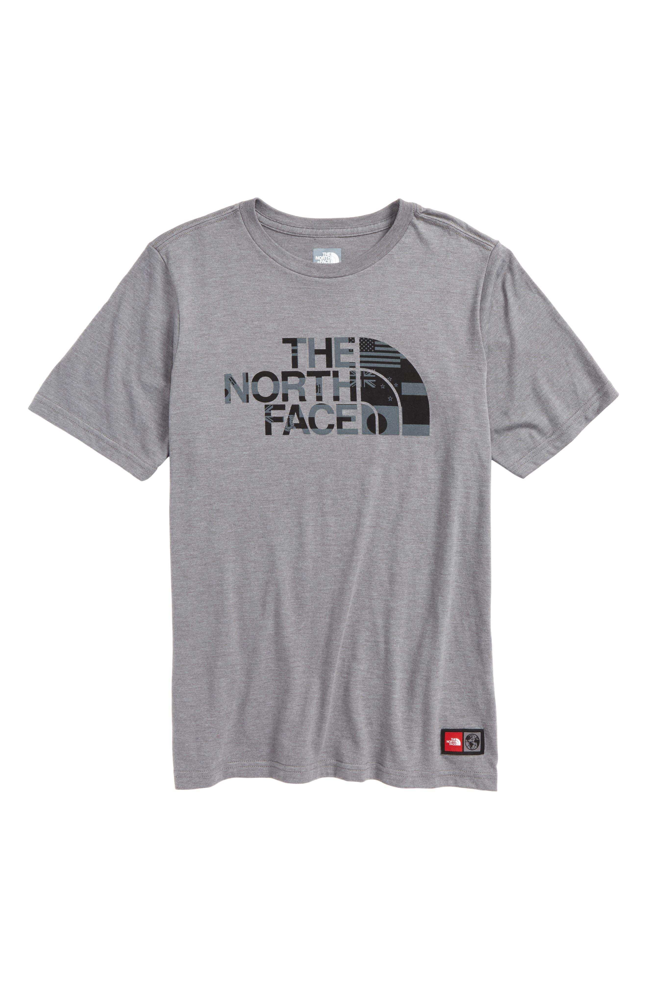 International Collection T-Shirt,                         Main,                         color, Tnf Medium Grey Heather