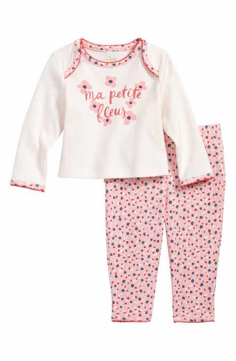 Baby girl pajamas sleepwear nordstrom kate spade new york ma petit fleur two piece pajamas baby girls negle Gallery