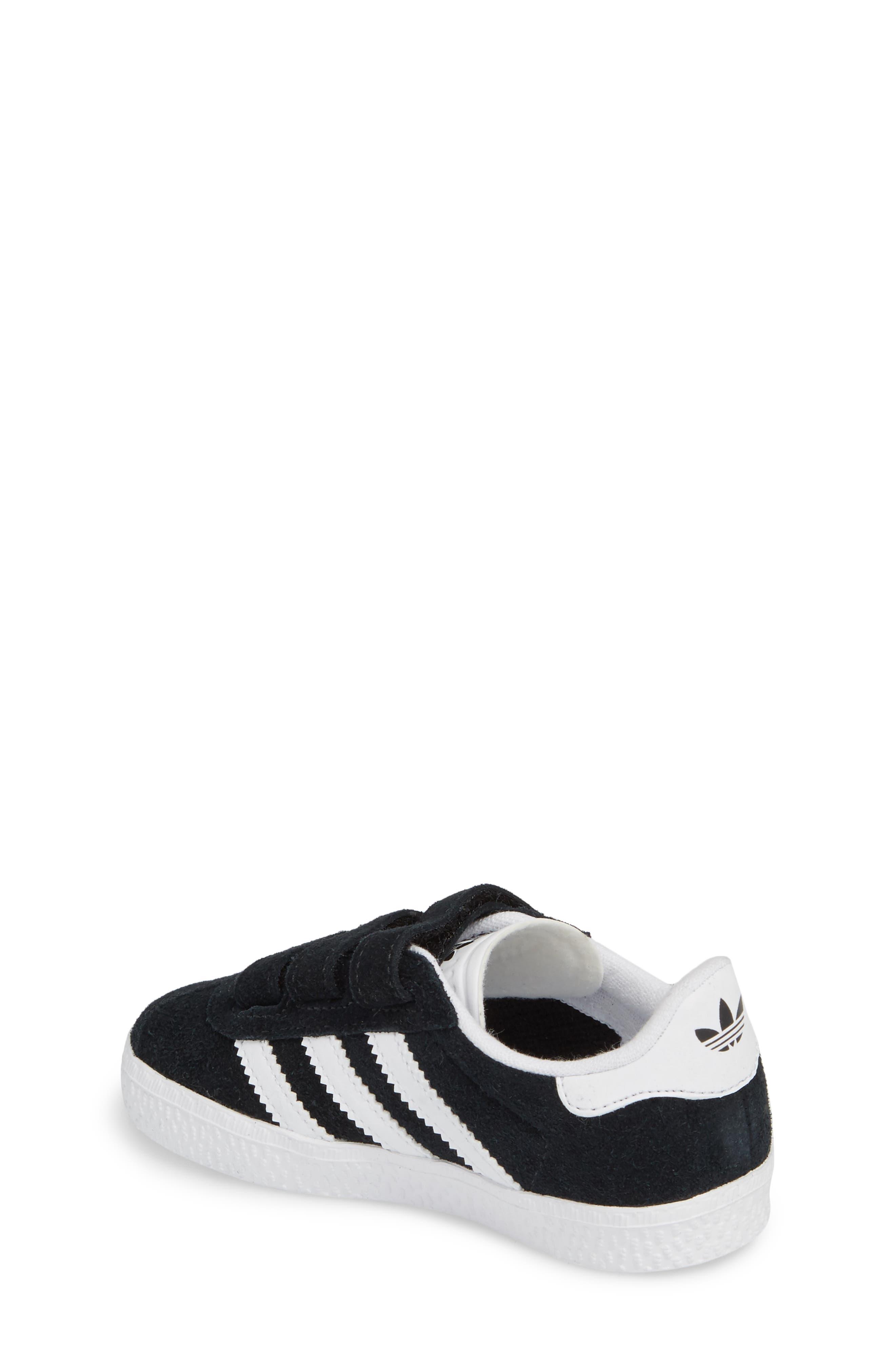 Gazelle Sneaker,                             Alternate thumbnail 3, color,                             Core Black / White / White