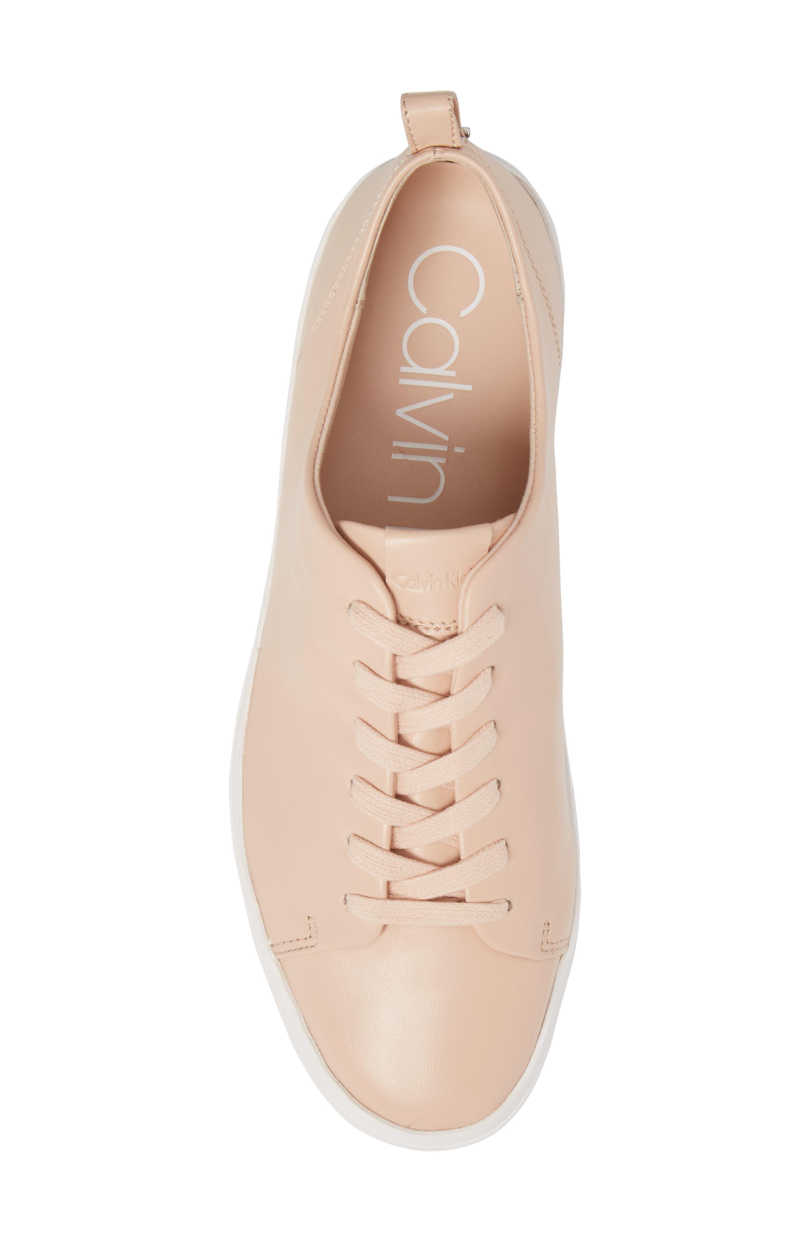 Janet Platform Sneaker,                             Alternate thumbnail 5, color,                             Pink Leather