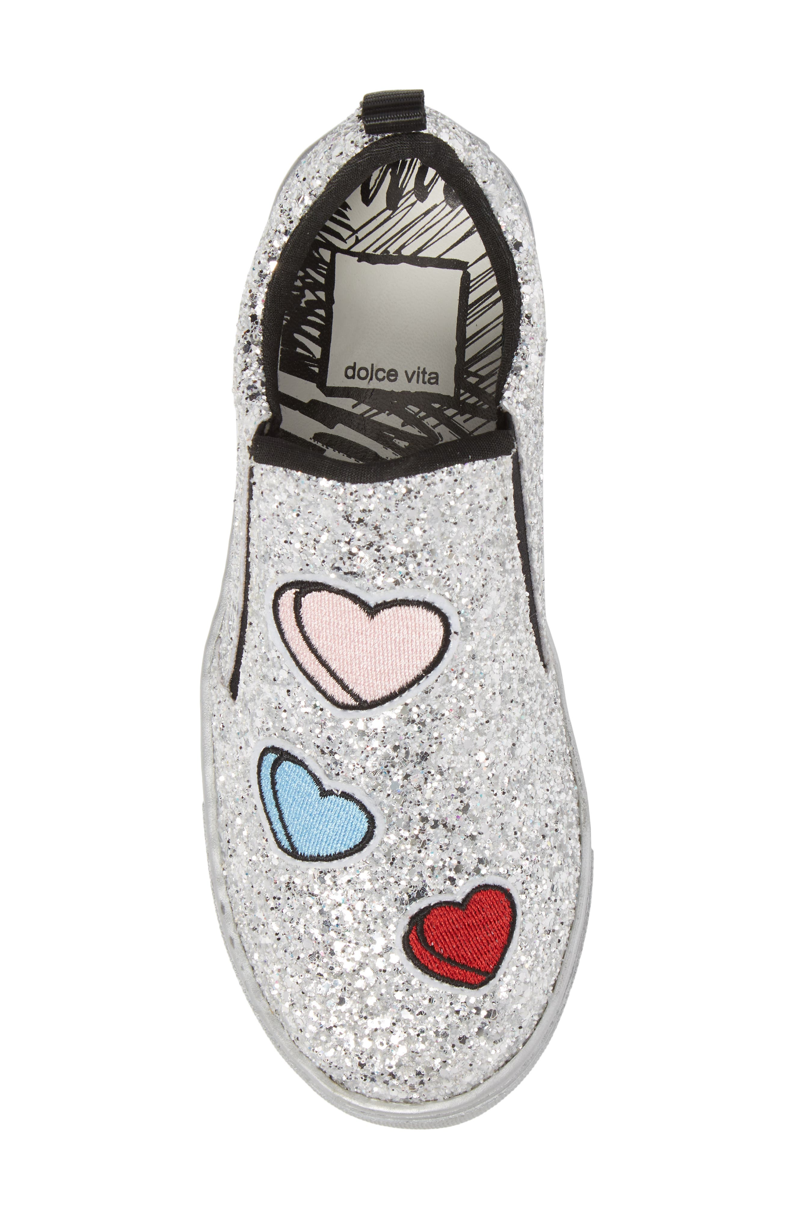 Zach Sneaker,                             Alternate thumbnail 5, color,                             Silver Multi Glitter