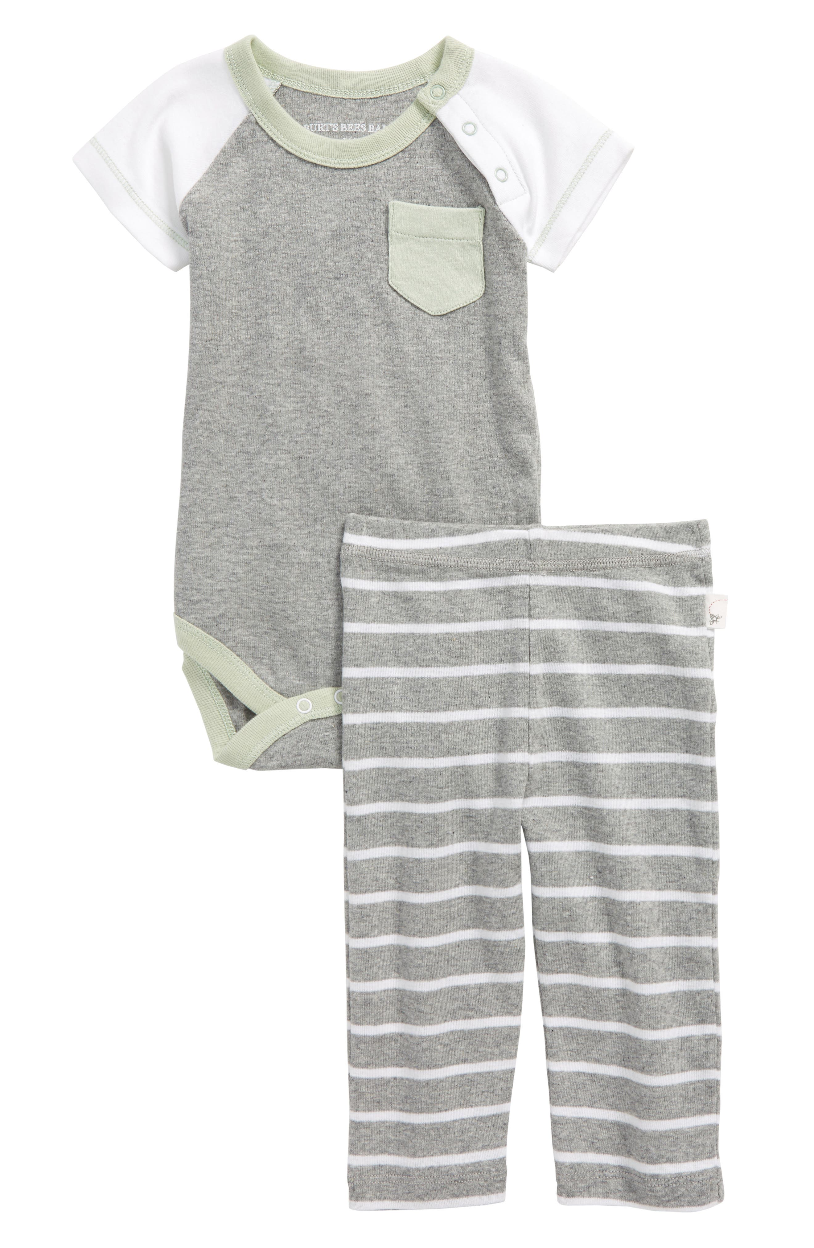 Burt's Bees Baby Organic Cotton Bodysuit & Pants Set (Baby Boys)