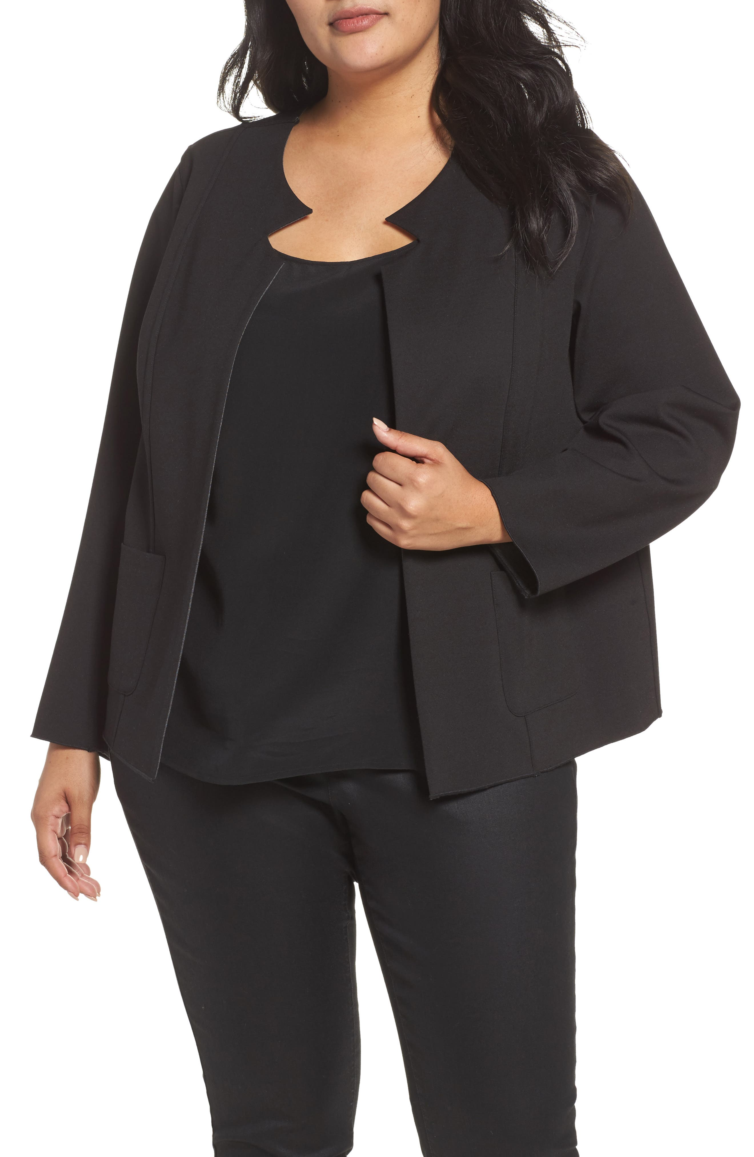 FOXCROFT Tilly Reversible Ponte Jacket in Charcoal
