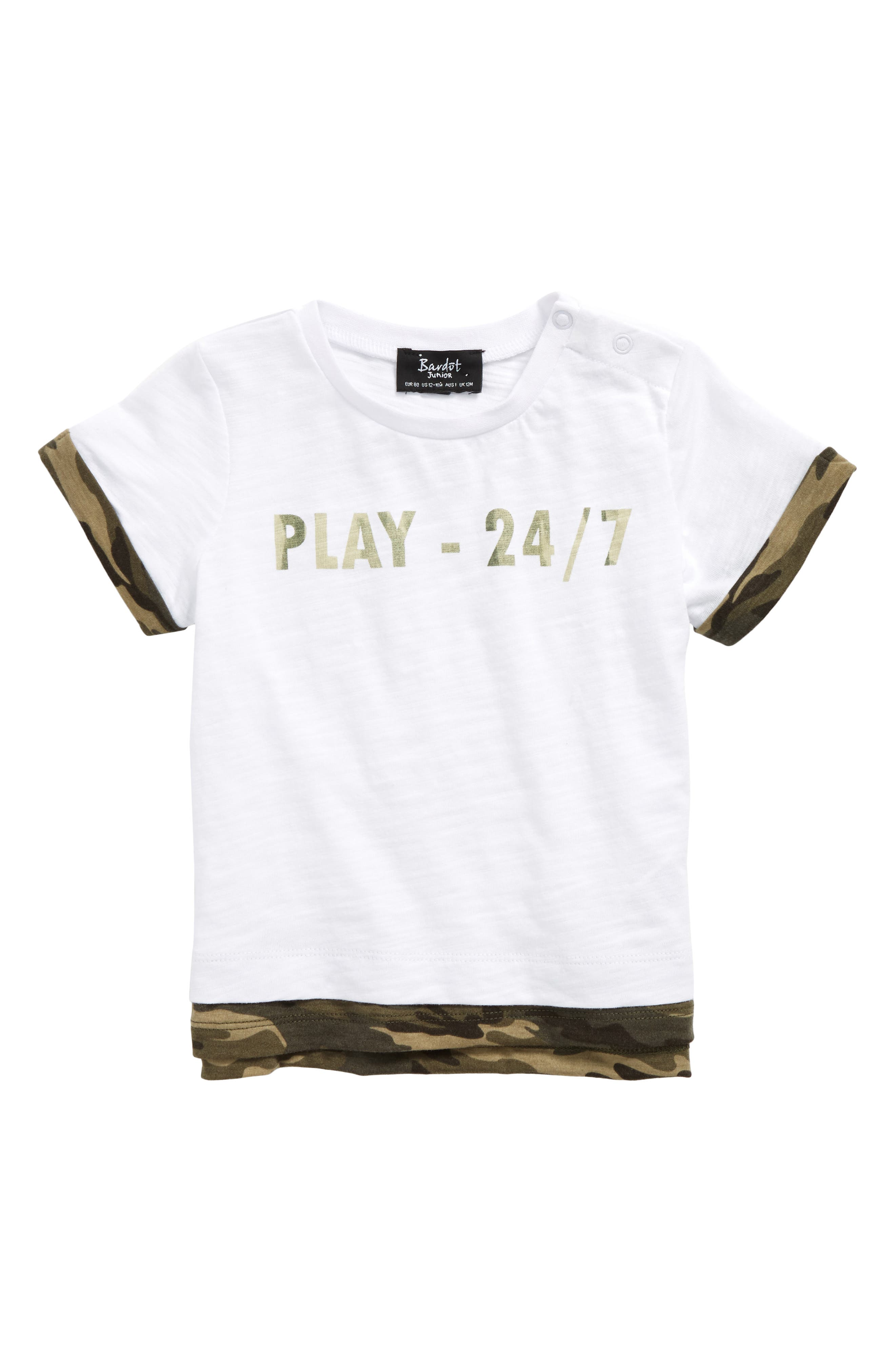 Bardot Junior Camo Play Graphic T-Shirt (Baby Boys & Toddler Boys)