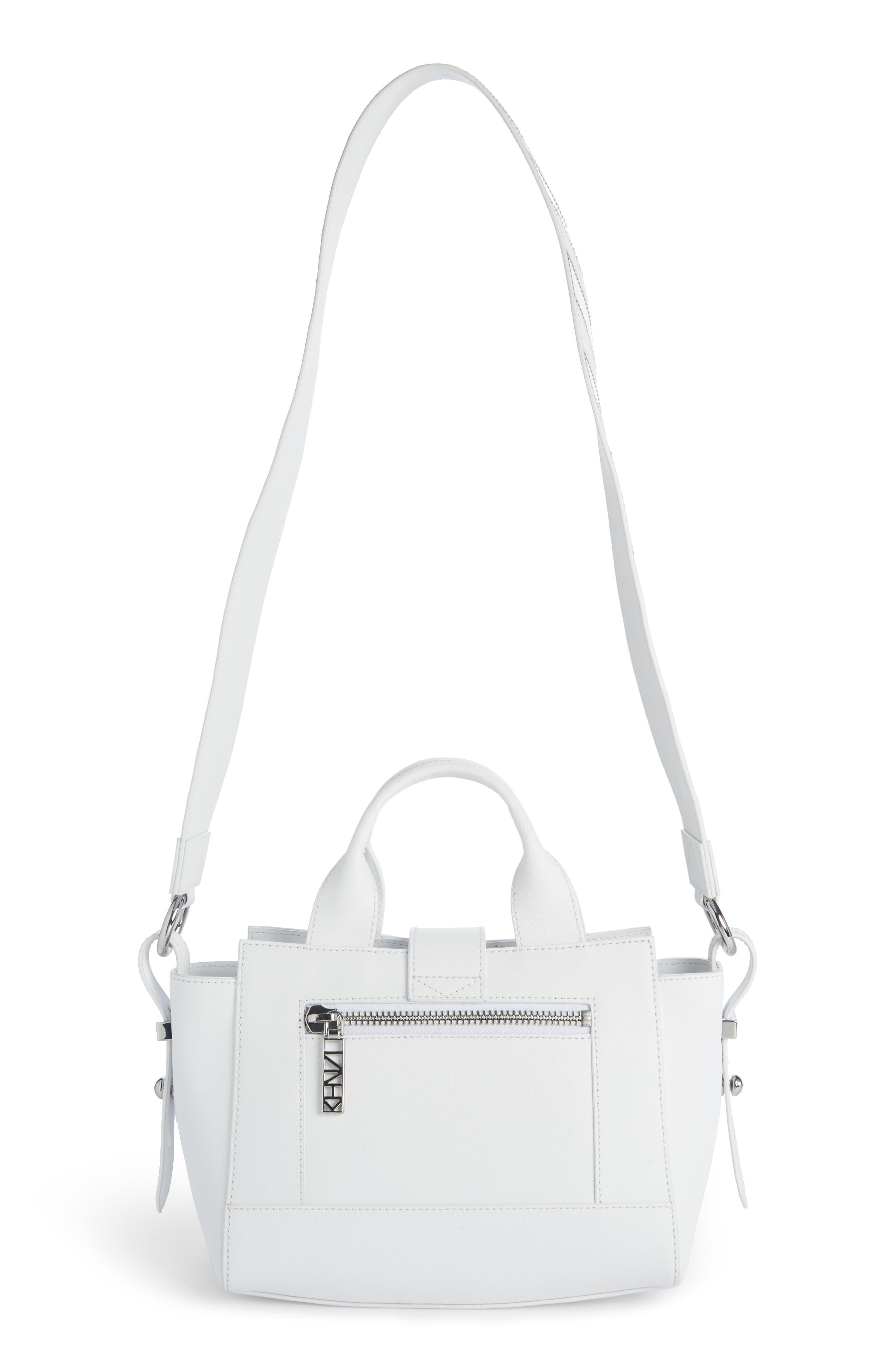 Mini Kalifornia Leather Satchel,                             Alternate thumbnail 2, color,                             White