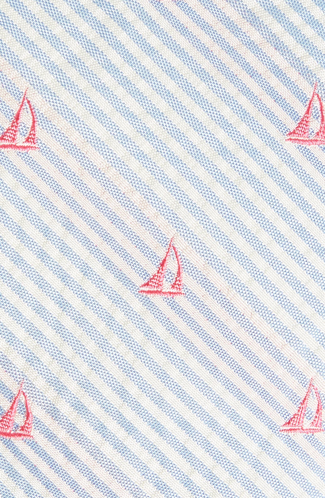 Seersucker Boat Silk Tie,                             Alternate thumbnail 2, color,                             Ocean Breeze