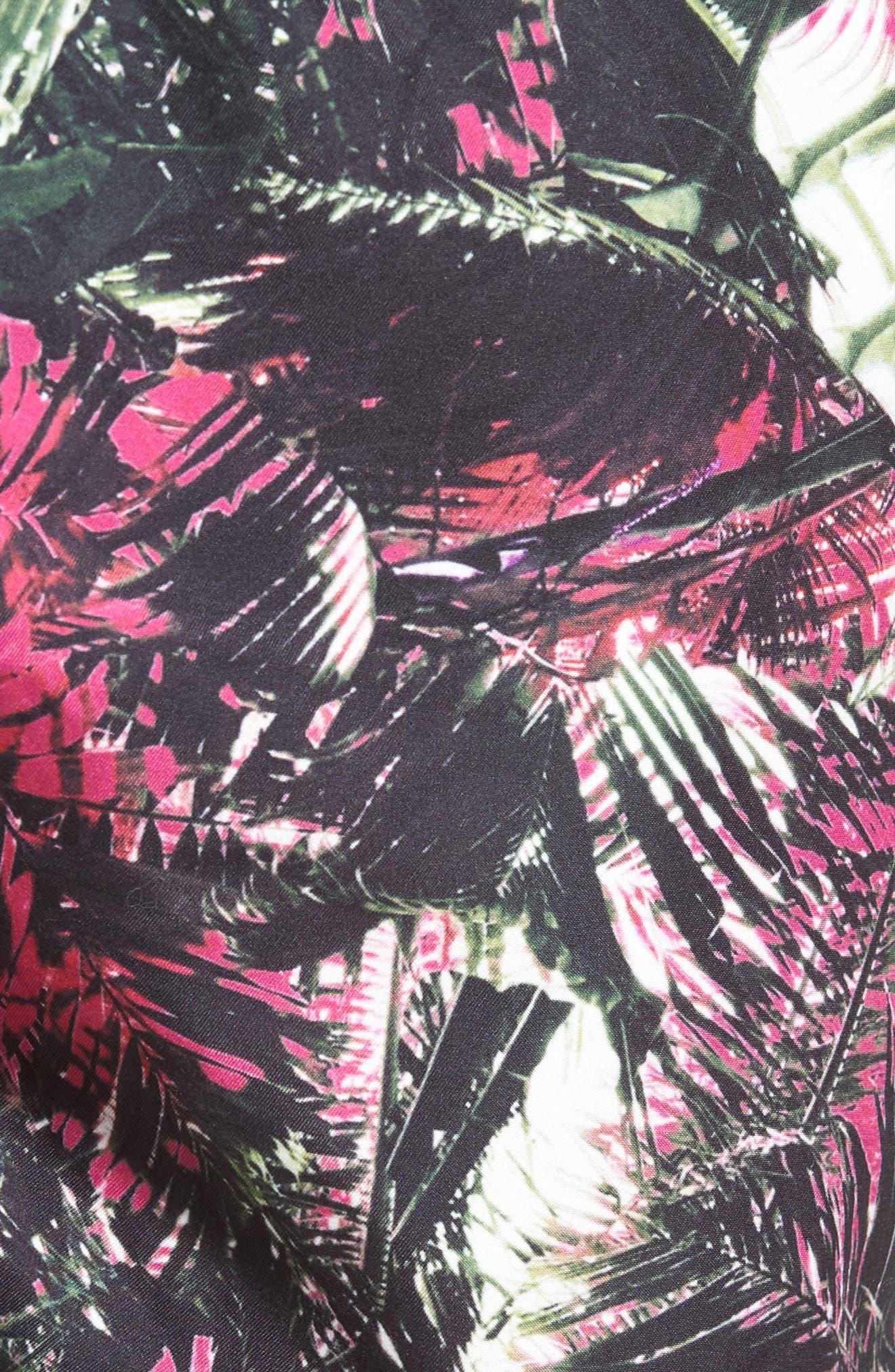 Alternate Image 5  - Ted Baker London Spencer Tropical Leaf Print Swim Trunks
