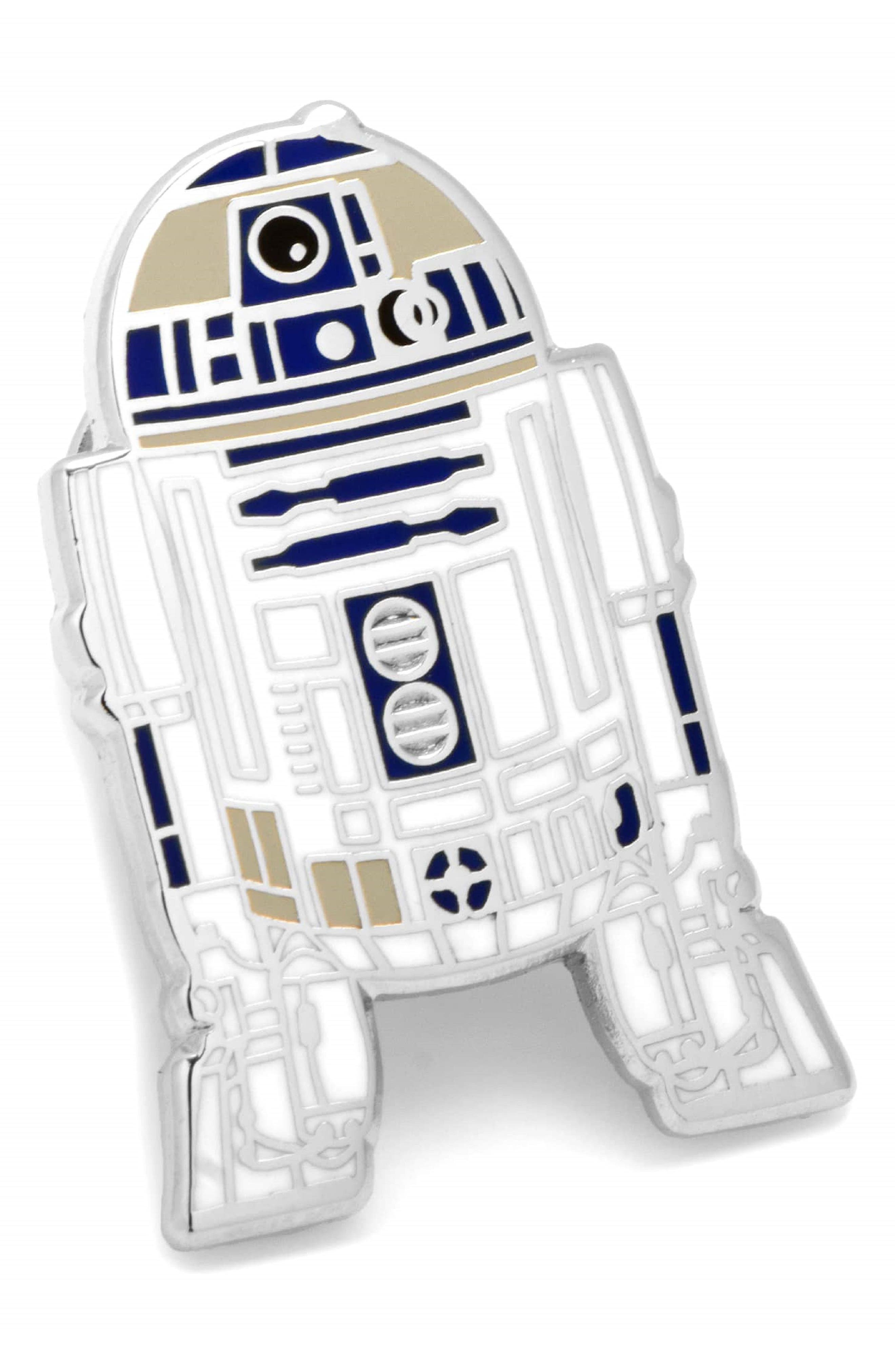 Star Wars<sup>™</sup> - R2-D2 Lapel Pin,                         Main,                         color, Silver