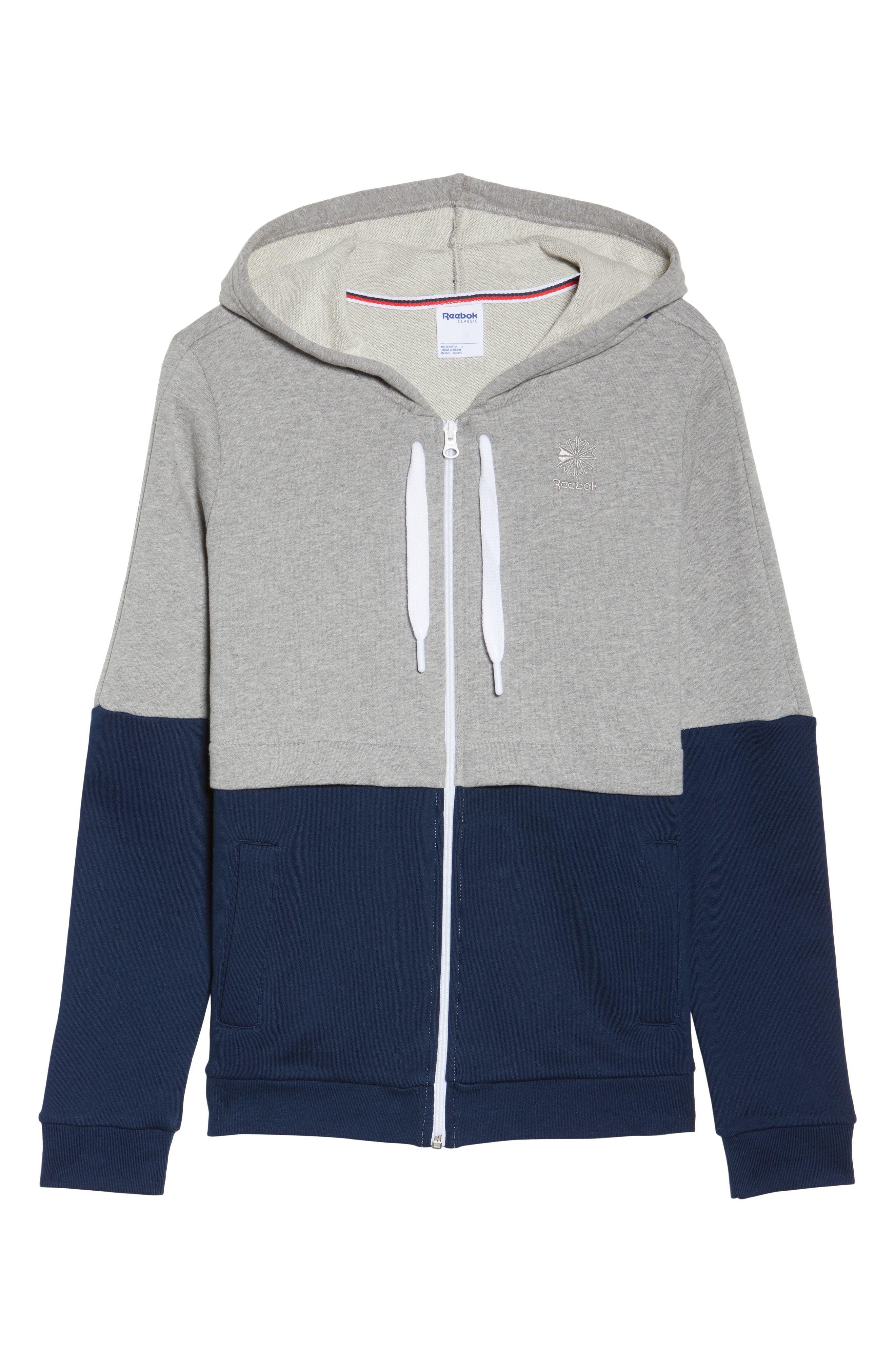 Classics French Terry Zip Hoodie,                             Alternate thumbnail 7, color,                             Medium Grey Heather