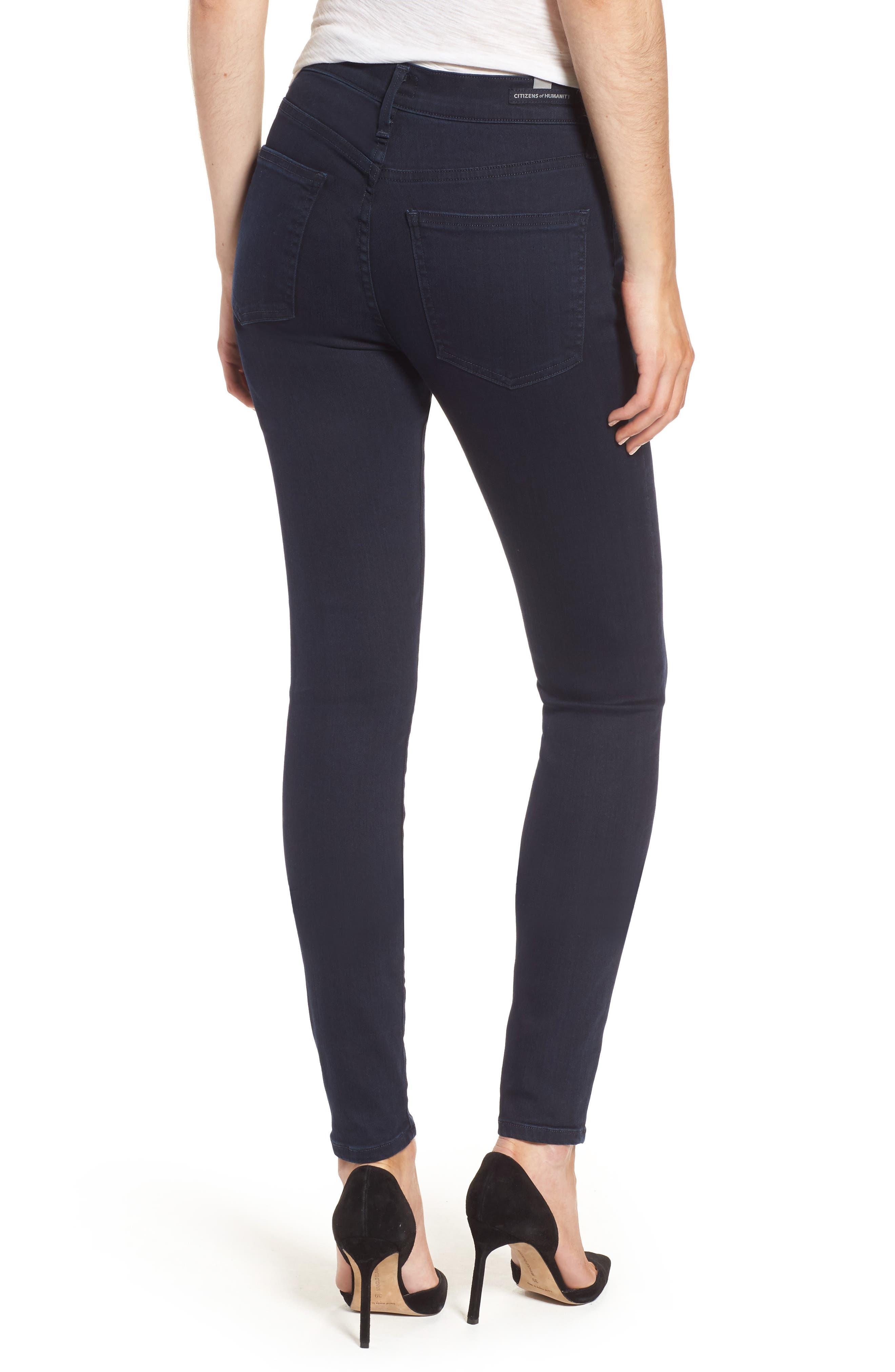 Rocket High Waist Skinny Jeans,                             Alternate thumbnail 2, color,                             Ozone Ink