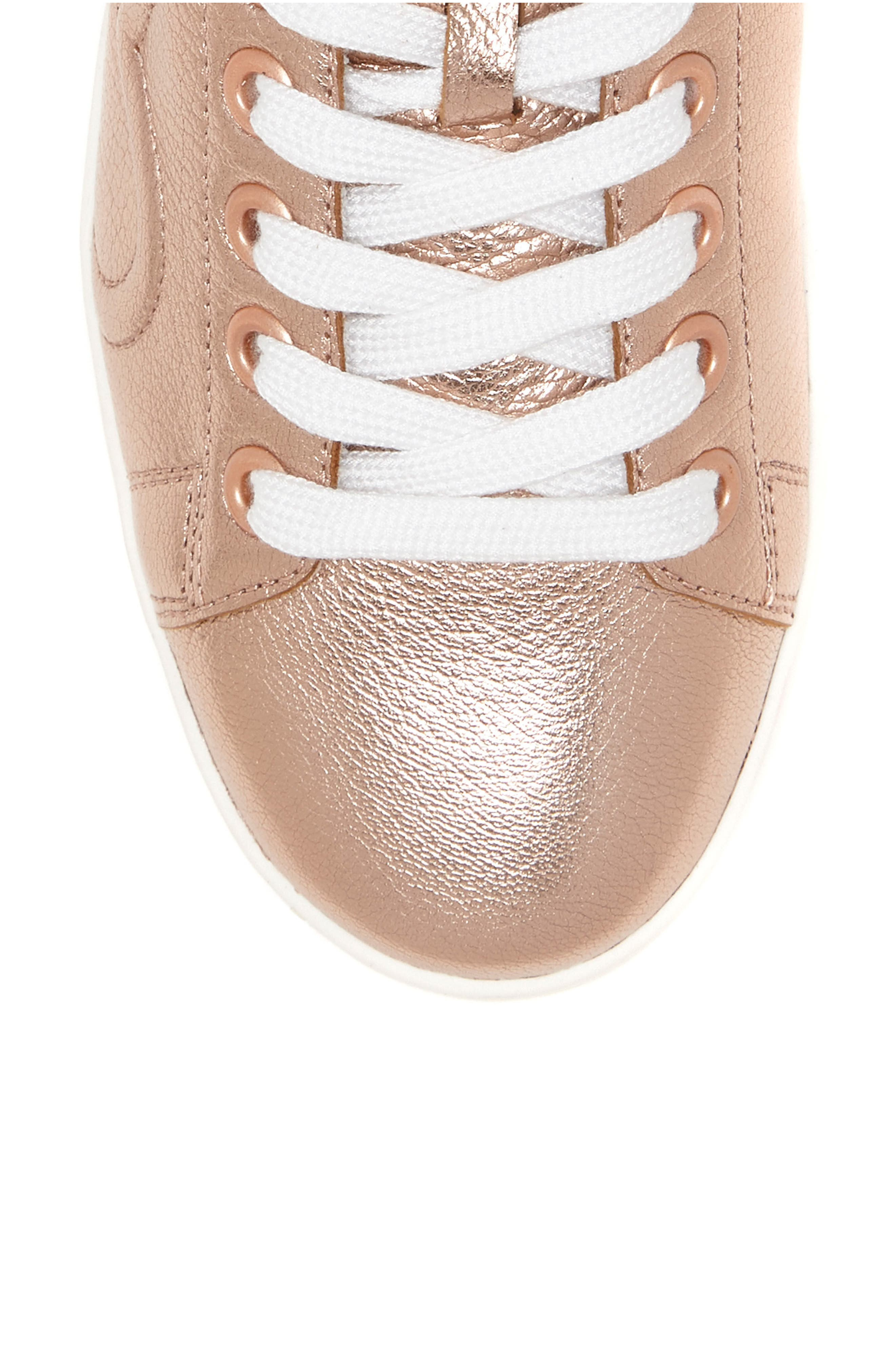 Chapunto Sneaker,                             Alternate thumbnail 6, color,                             Rose Gold Leather