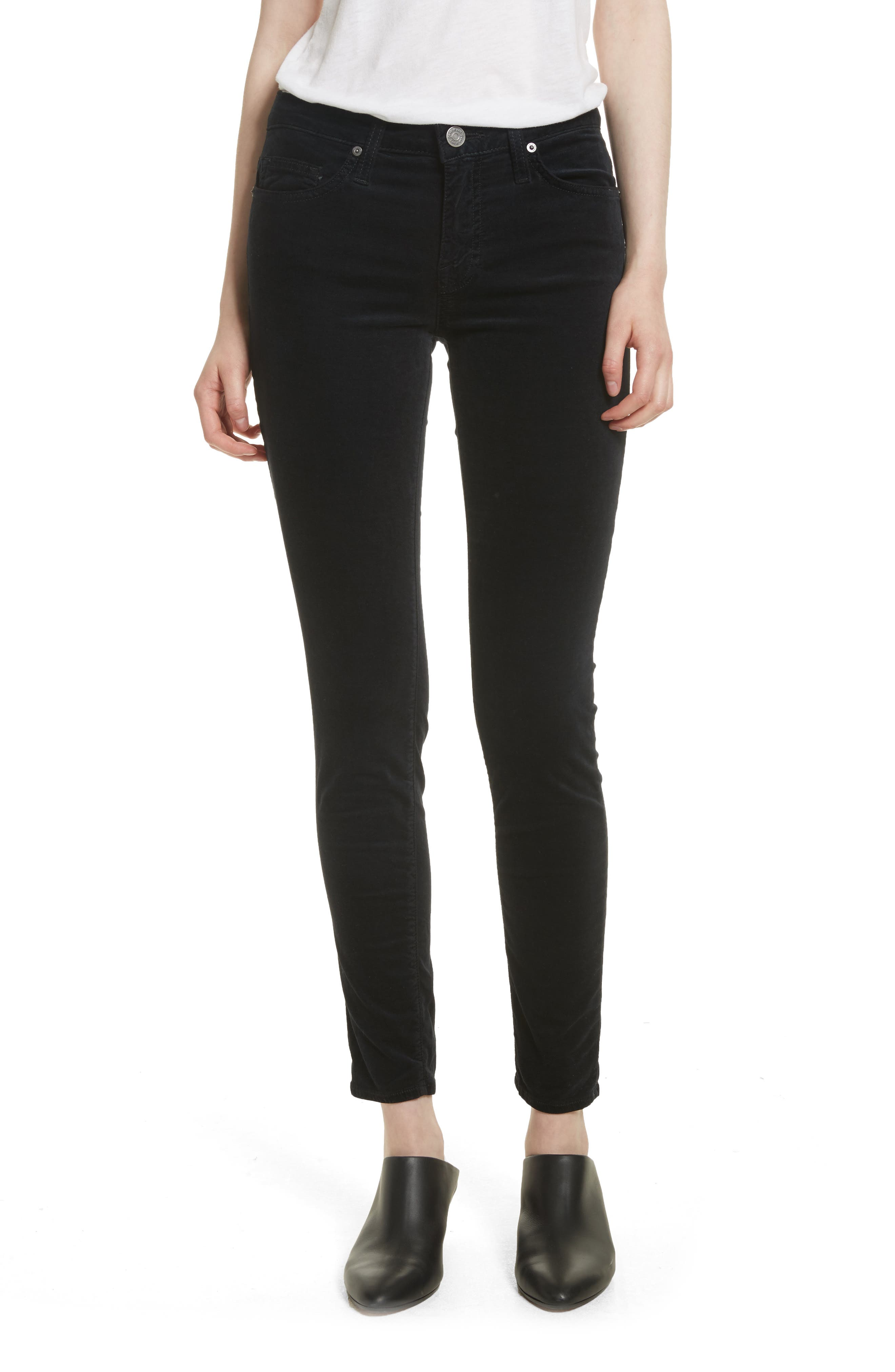 Joie Mid-Rise Skinny Jeans (Caviar)