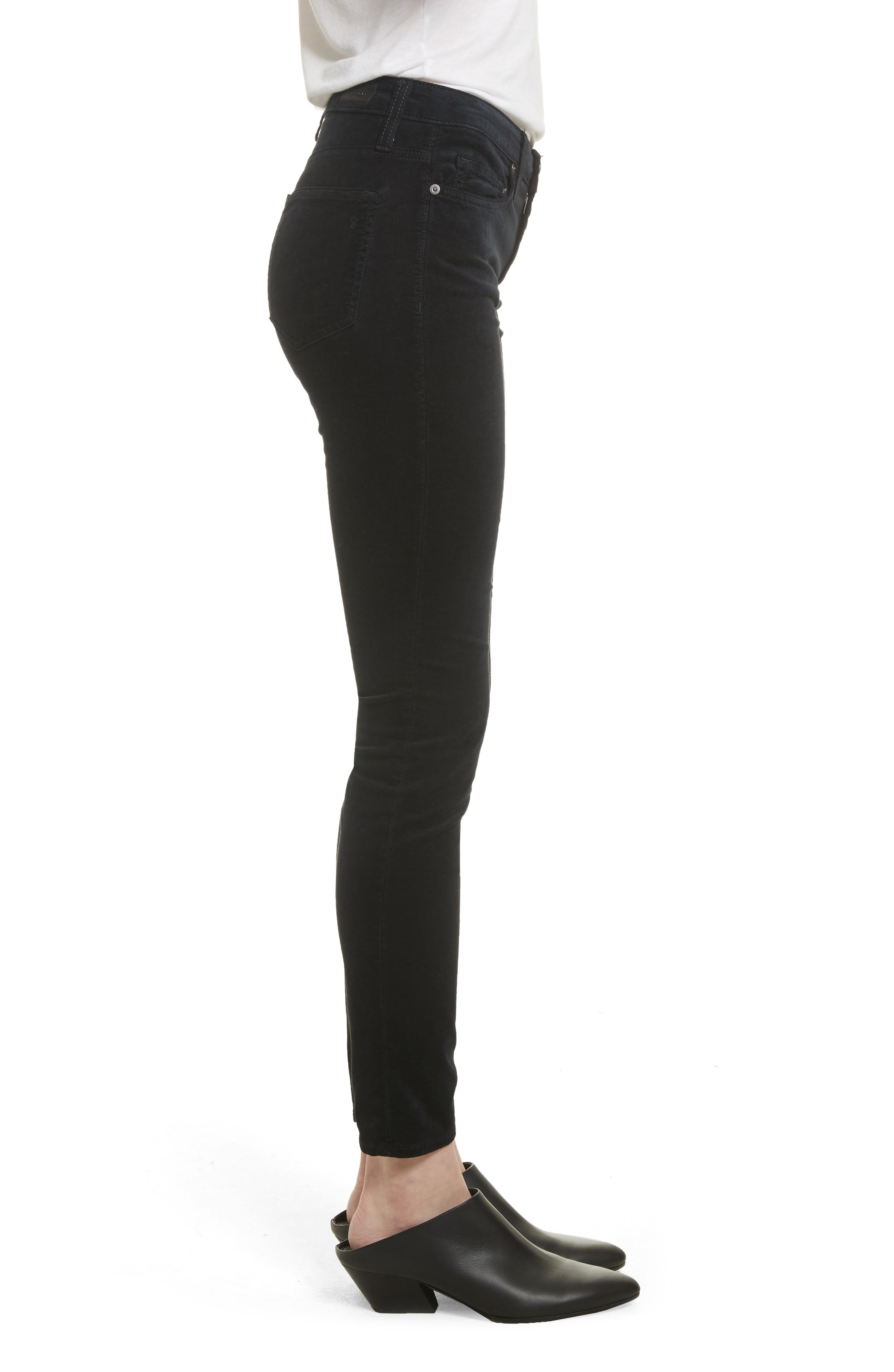 Alternate Image 3  - Joie Mid-Rise Skinny Jeans (Caviar)