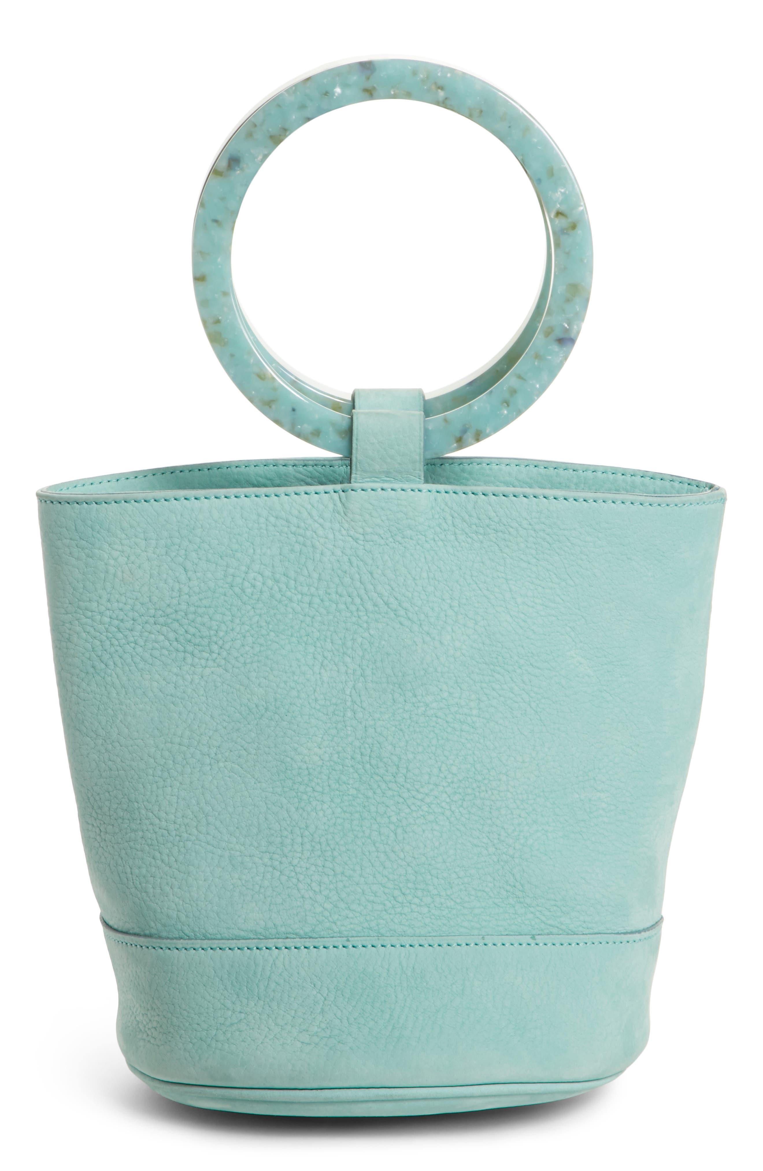 Bonsai 20 Pebbled Leather Bucket Bag,                             Alternate thumbnail 3, color,                             Splash