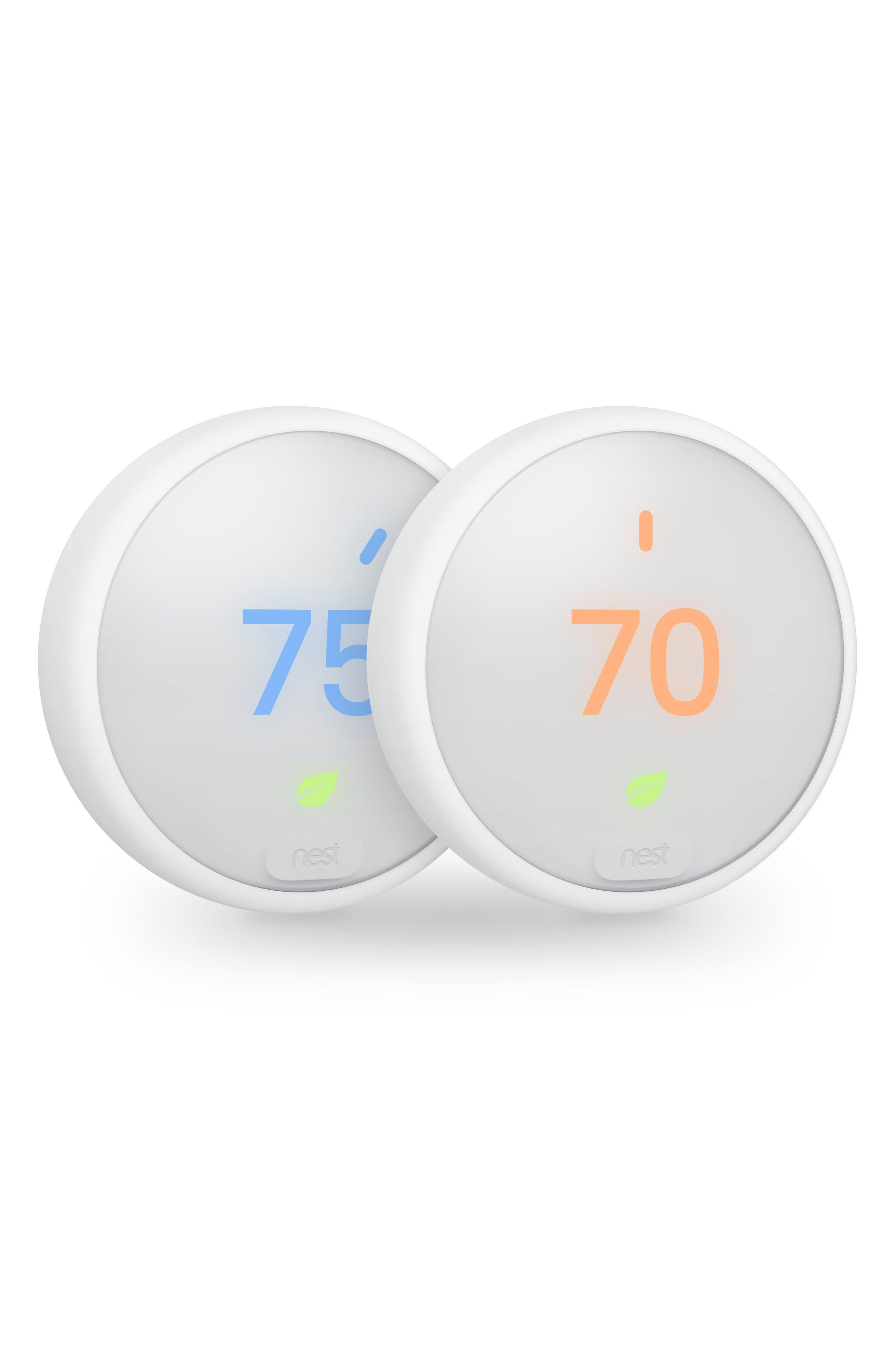 2-Pack Thermostat E,                         Main,                         color, White