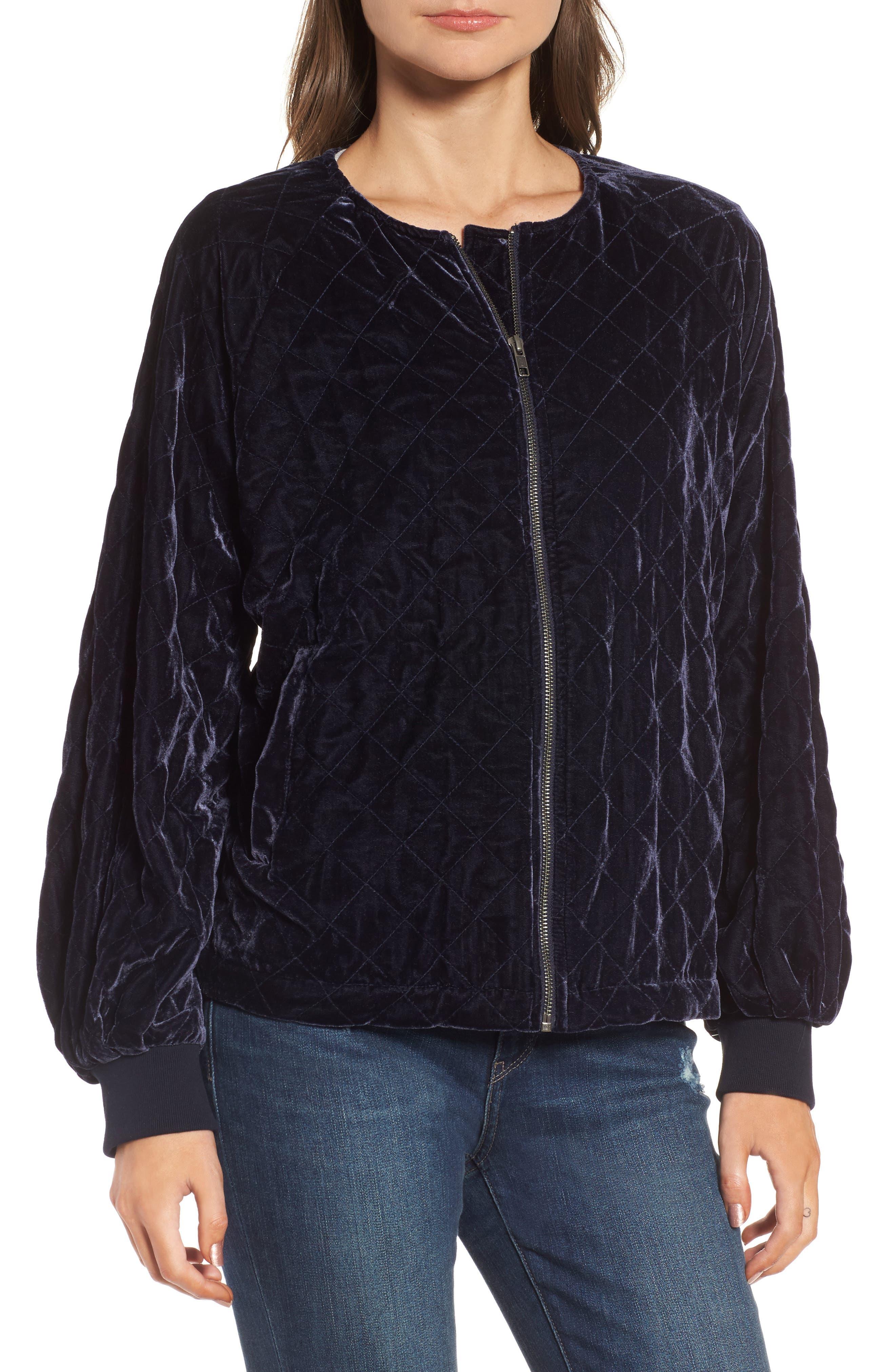 Alternate Image 4  - Hinge Quilted Velvet Jacket