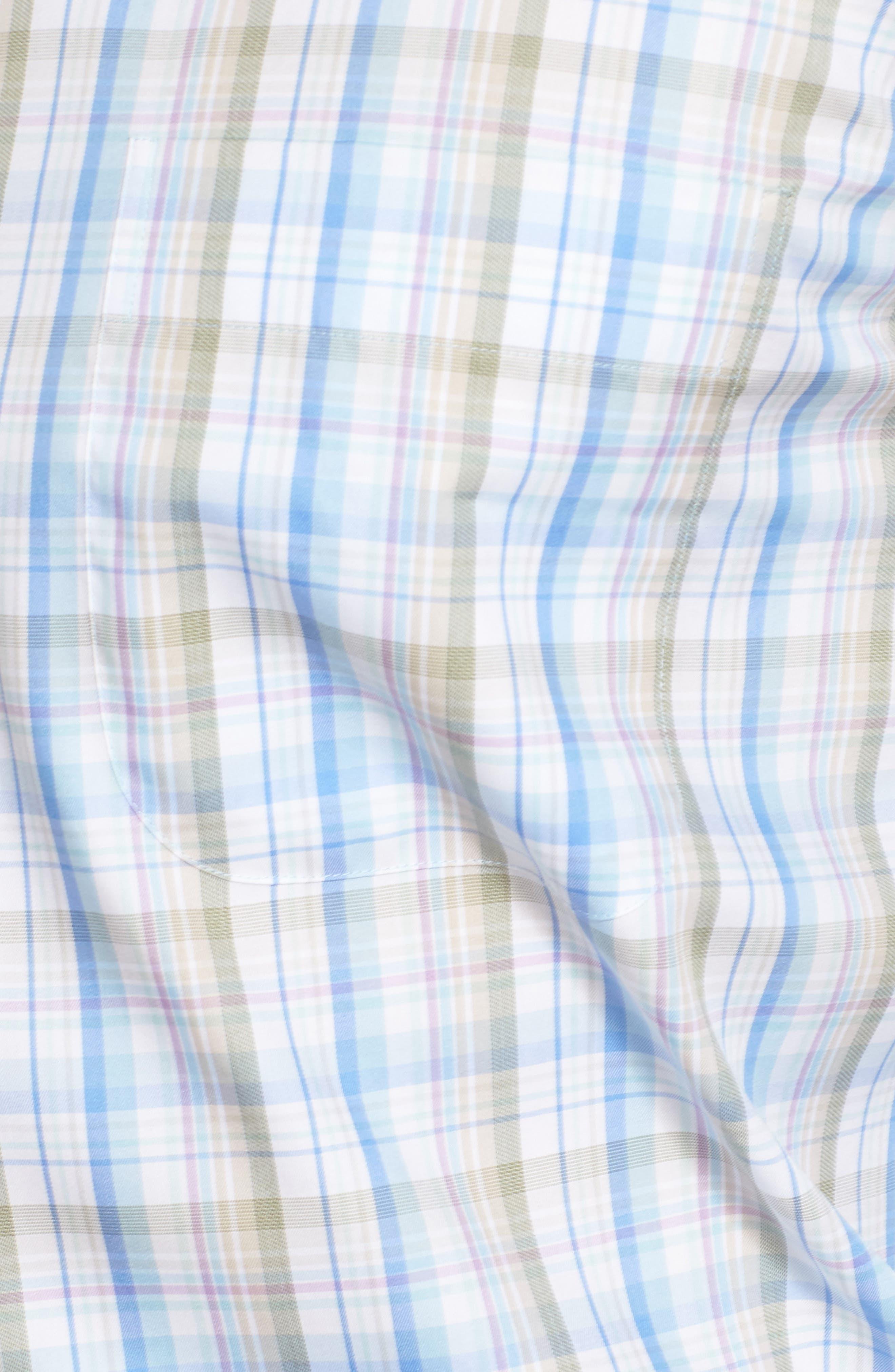Alternate Image 5  - Peter Millar Crown Waterway Plaid Sport Shirt