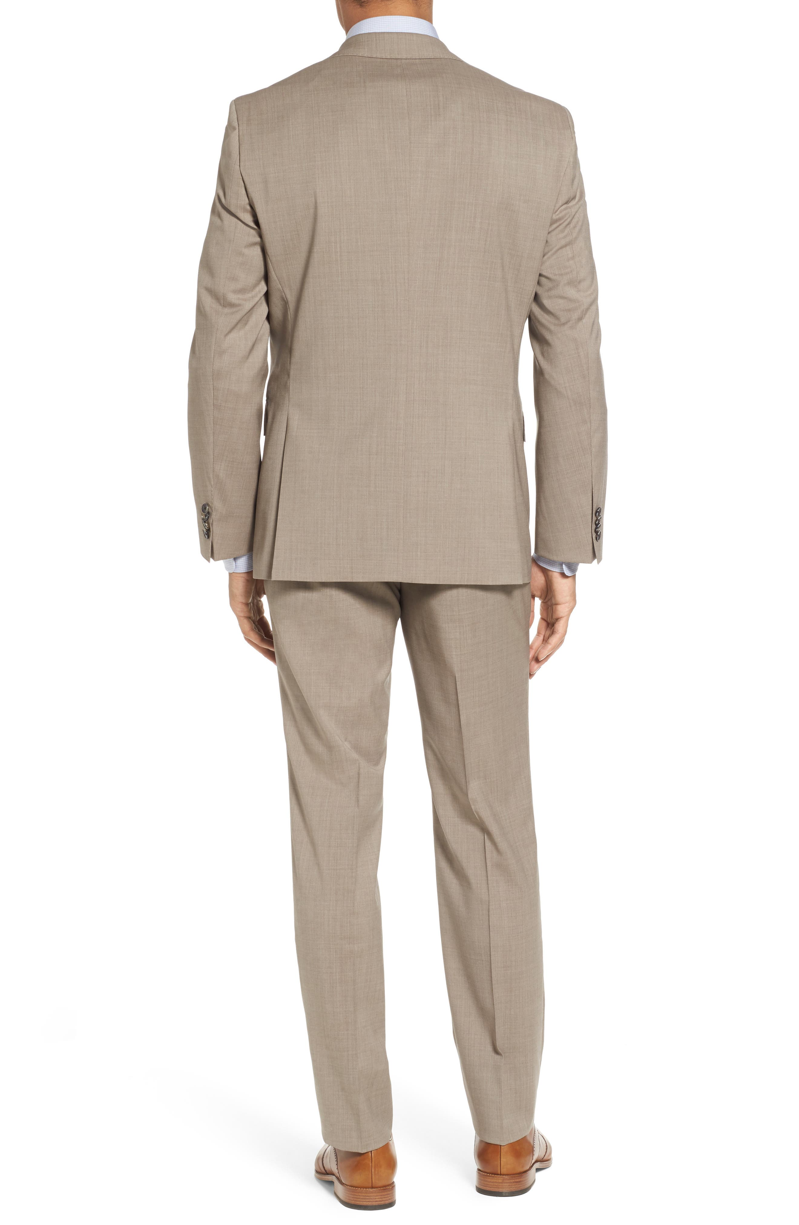 Johnstons/Lenon Classic Fit Solid Wool Suit,                             Alternate thumbnail 2, color,                             Medium Beige