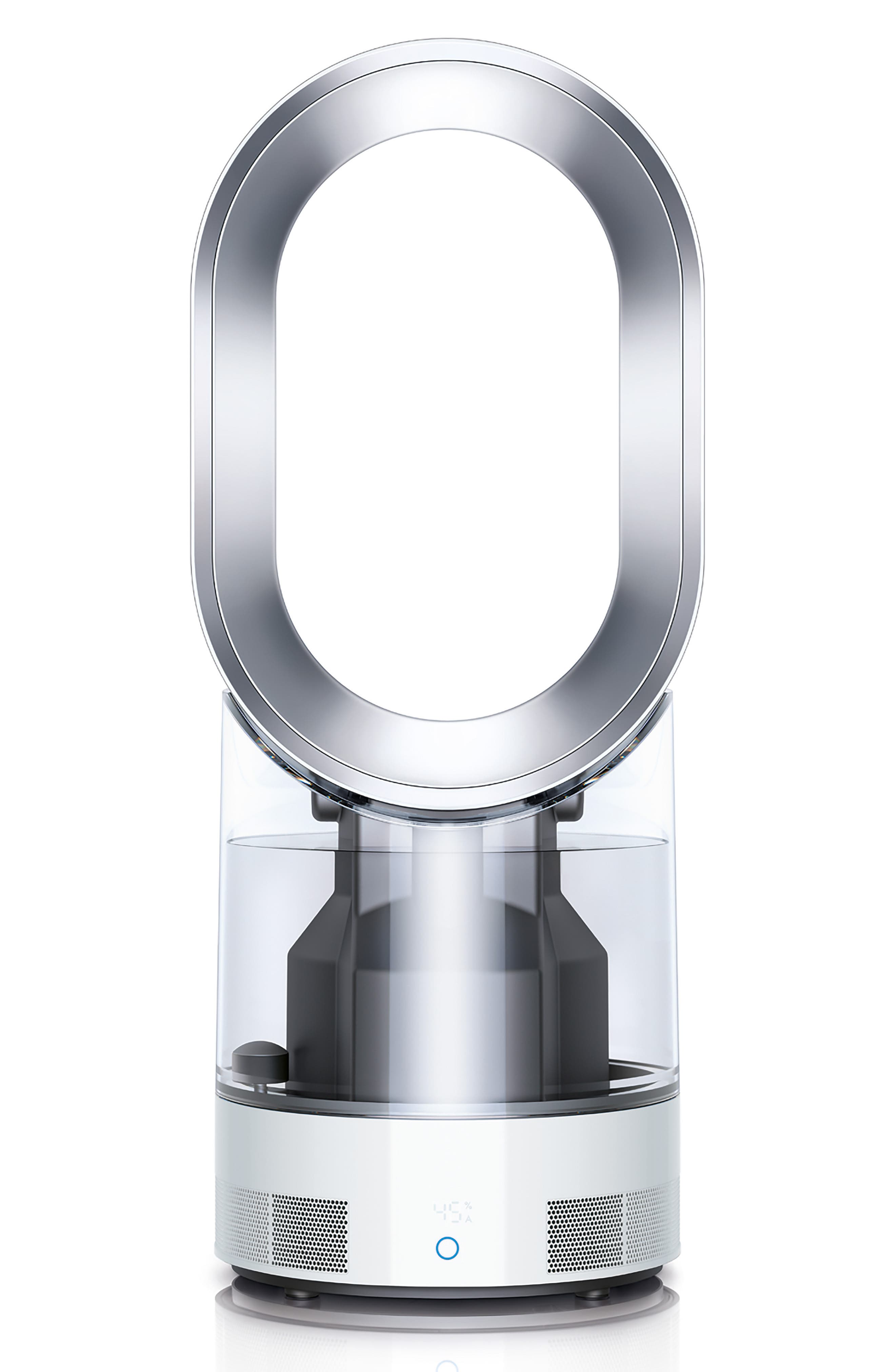 AM10 Hygienic Humidifier & Bladeless Fan,                             Main thumbnail 1, color,                             White/ Silver
