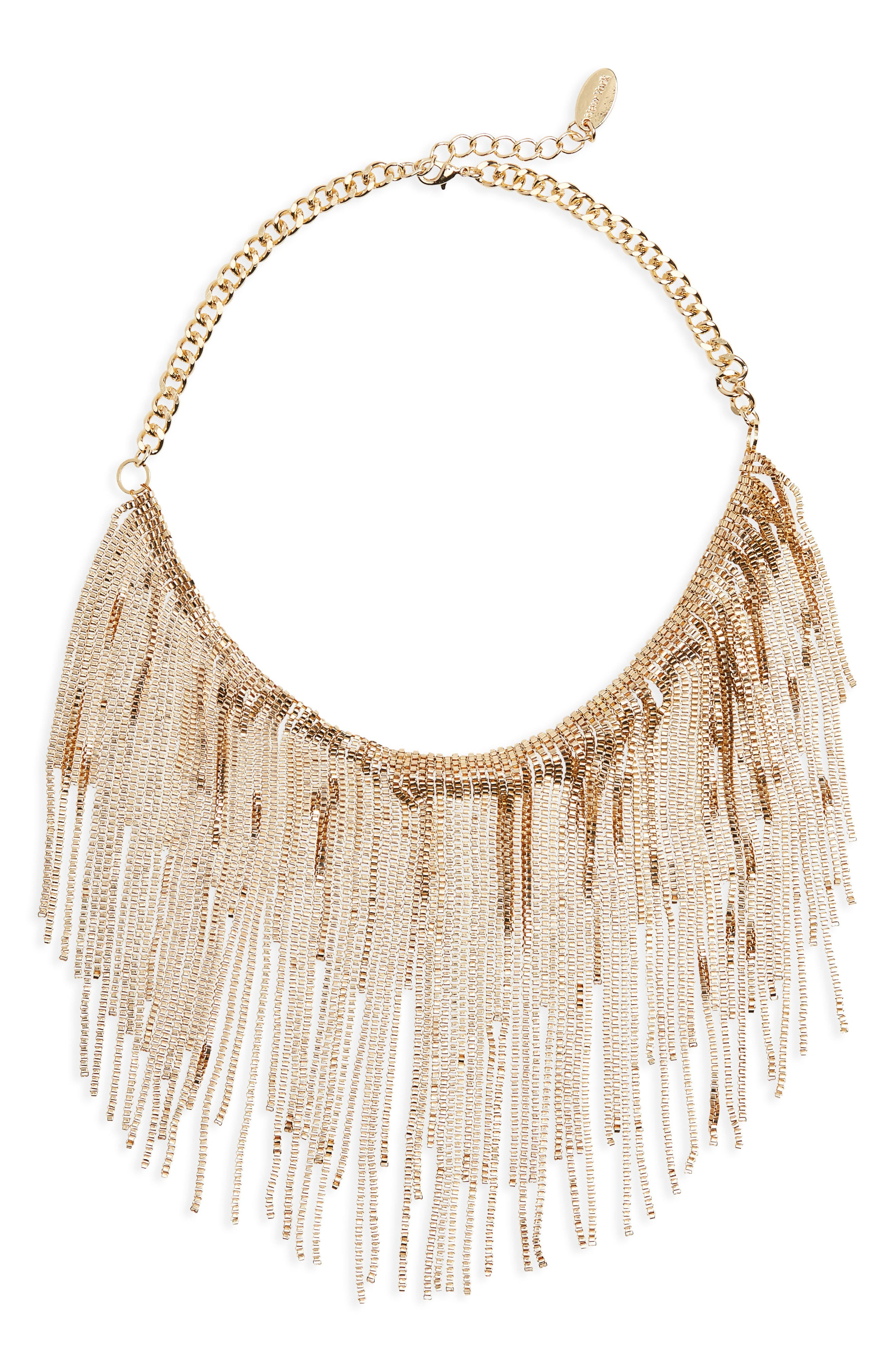 Linear Chain Necklace,                         Main,                         color, Gold