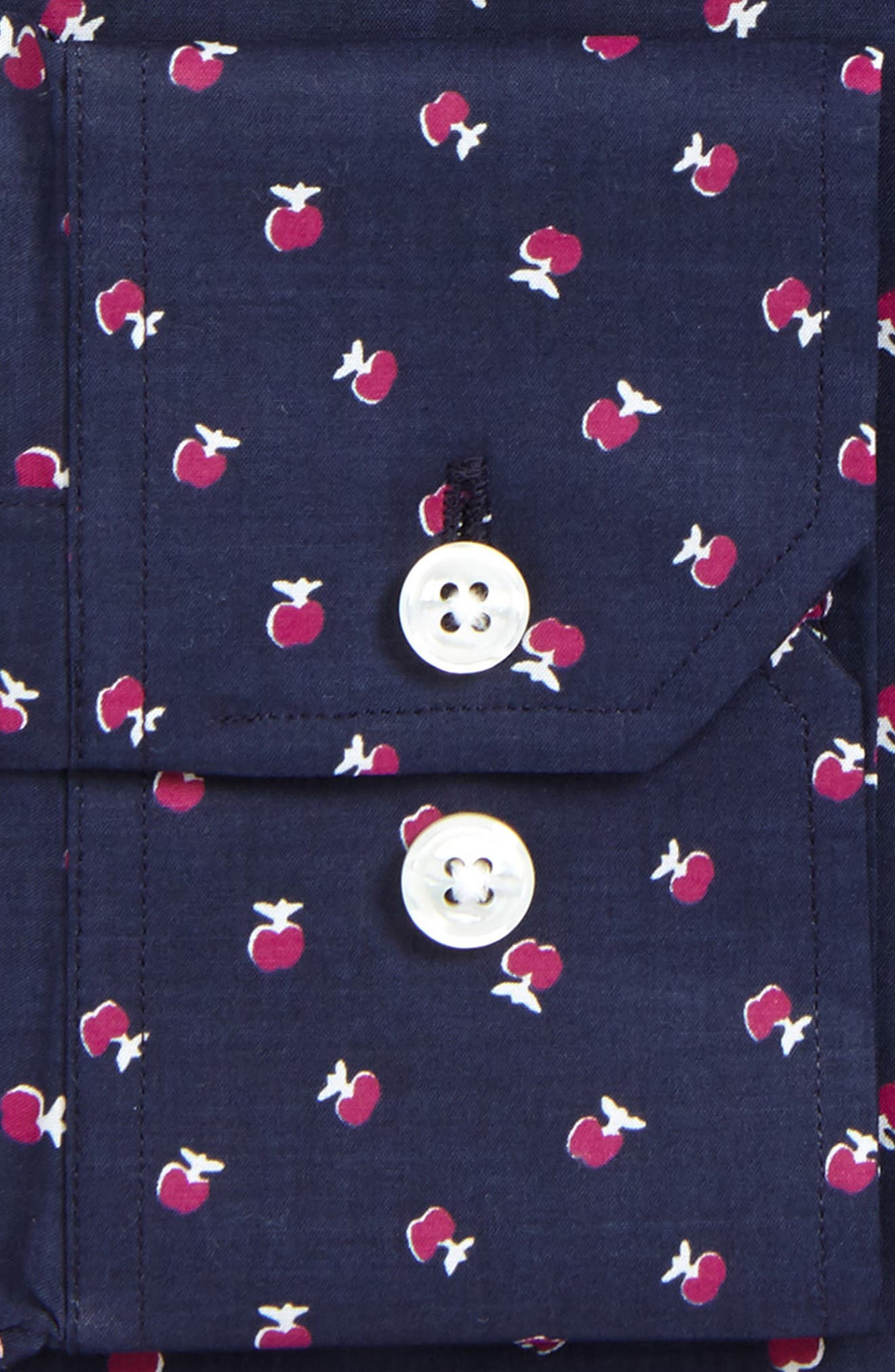 Cherry Slim Fit Stretch Floral Dress Shirt,                             Alternate thumbnail 2, color,                             French Rose