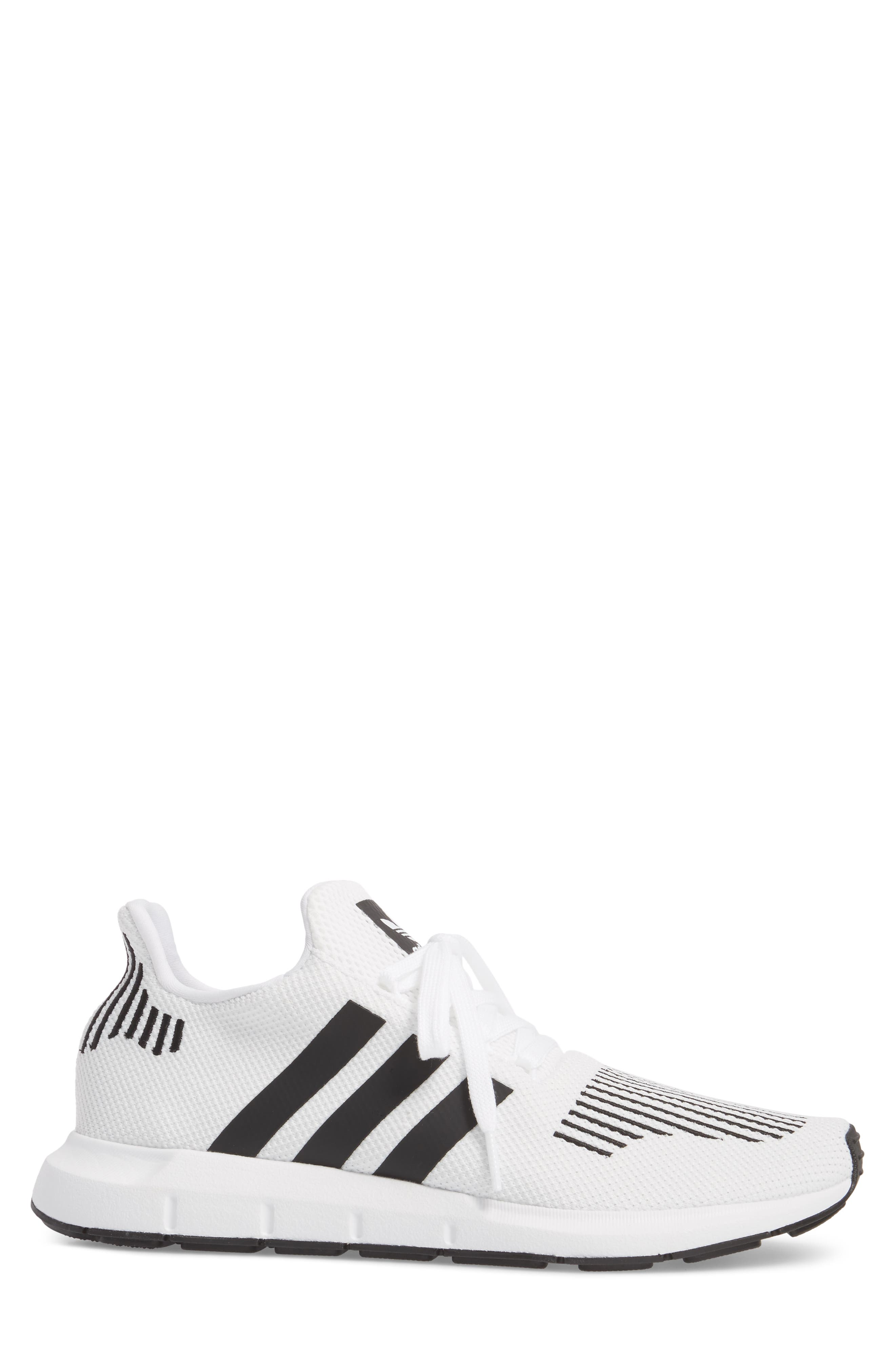 Swift Run Sneaker,                             Alternate thumbnail 3, color,                             White/ Core Black/ Grey