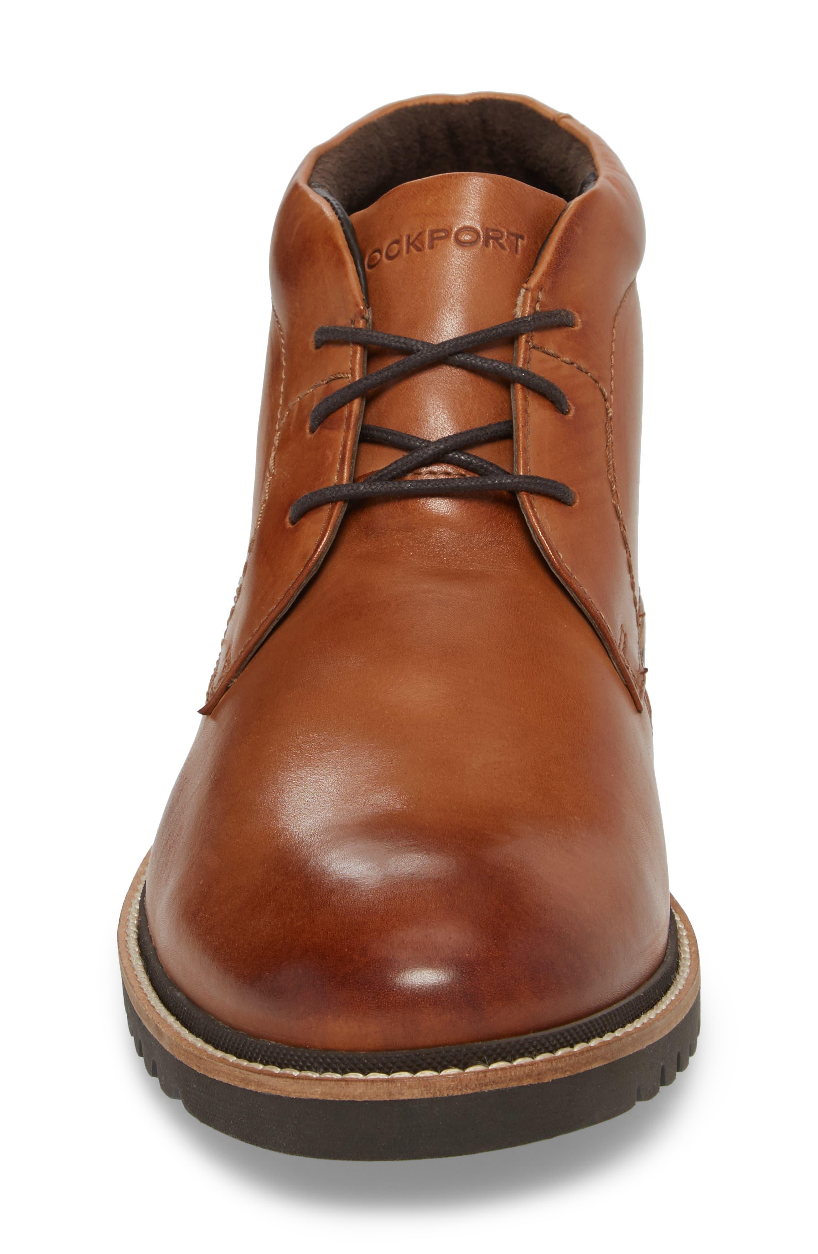 Marshall Chukka Boot,                             Alternate thumbnail 4, color,                             Cognac Leather