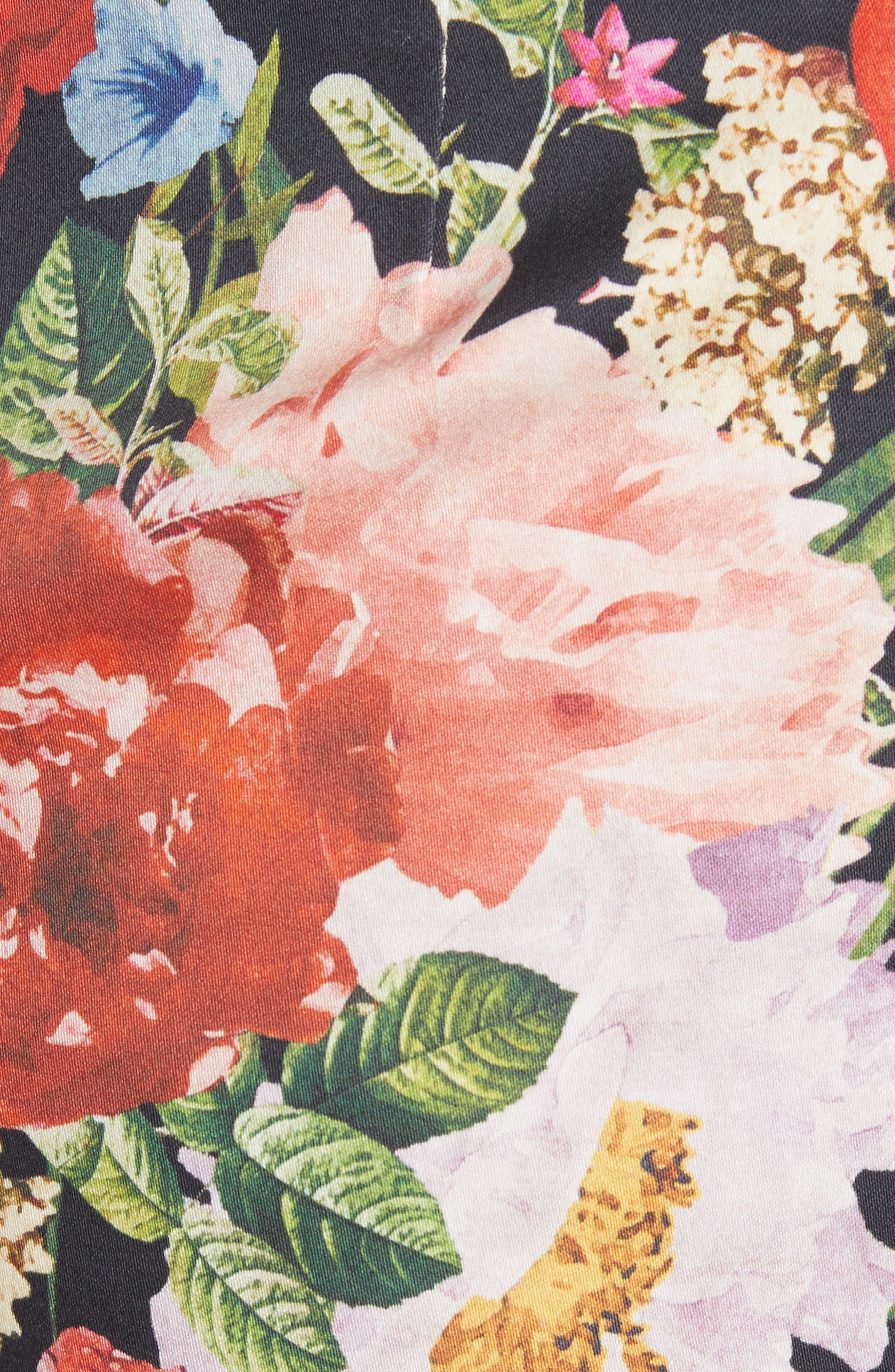 Floral Skirt,                             Alternate thumbnail 5, color,                             Blooming Garden