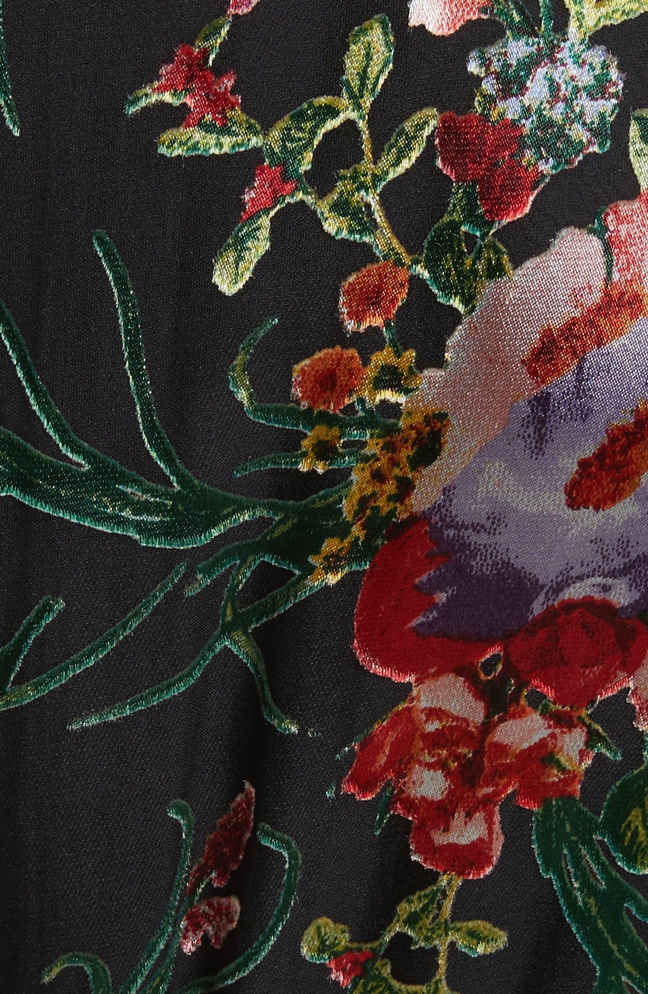 Alternate Image 5  - Alice + Olivia Abney Floral Wrap Shirtdress