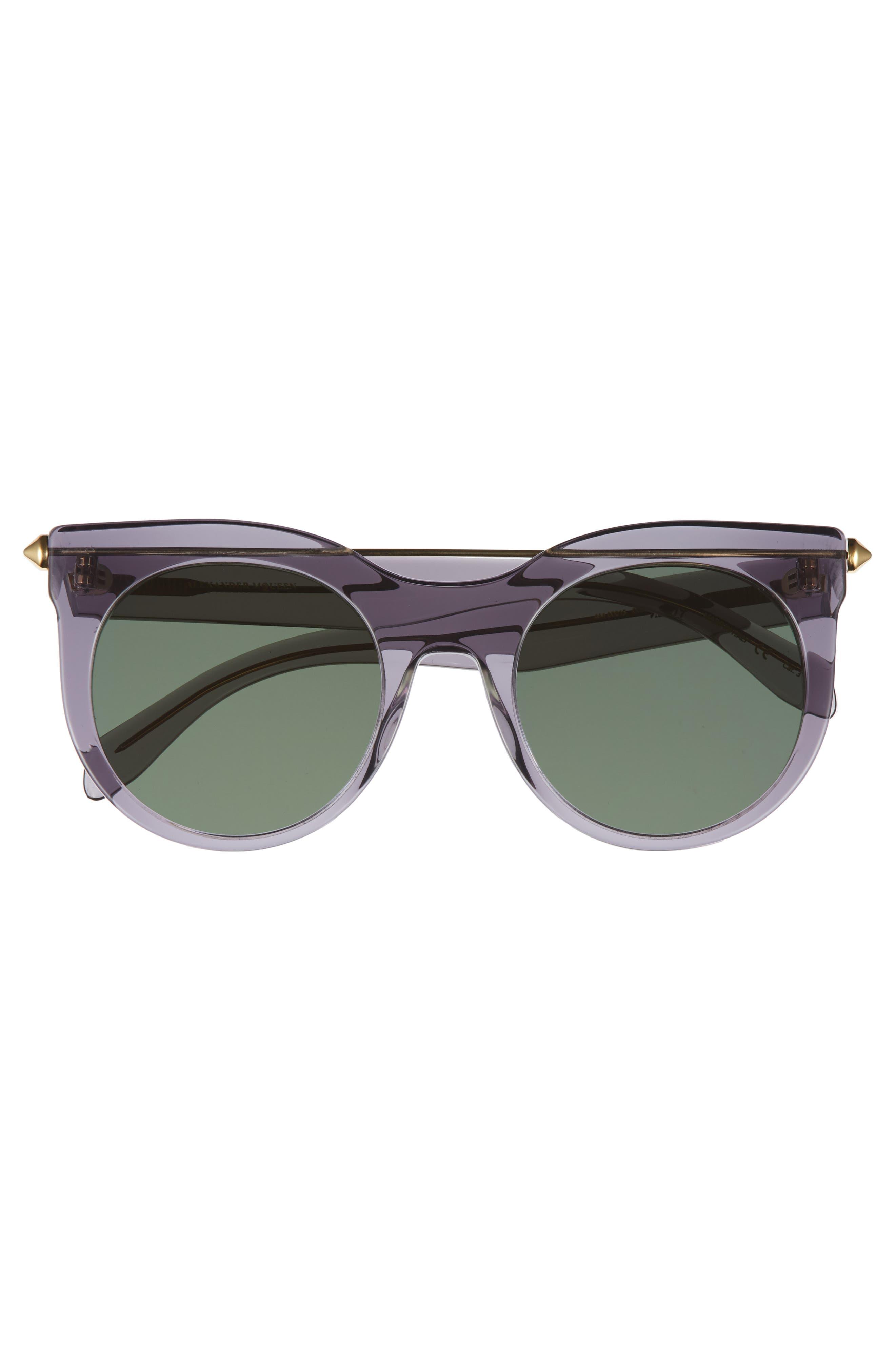 52mm Cat Eye Sunglasses,                             Alternate thumbnail 3, color,                             Grey