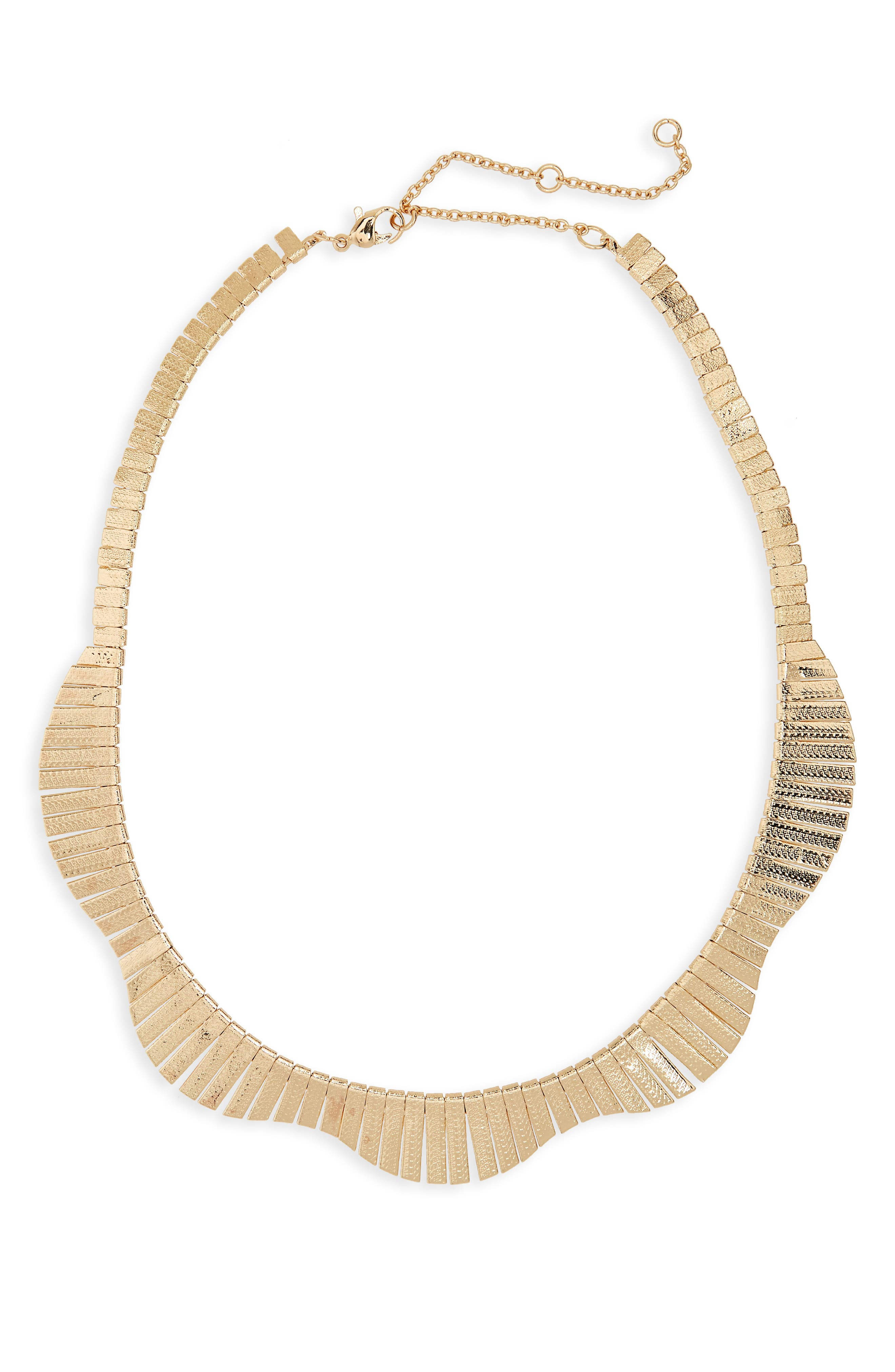 Collar Necklace,                             Main thumbnail 1, color,                             Gold