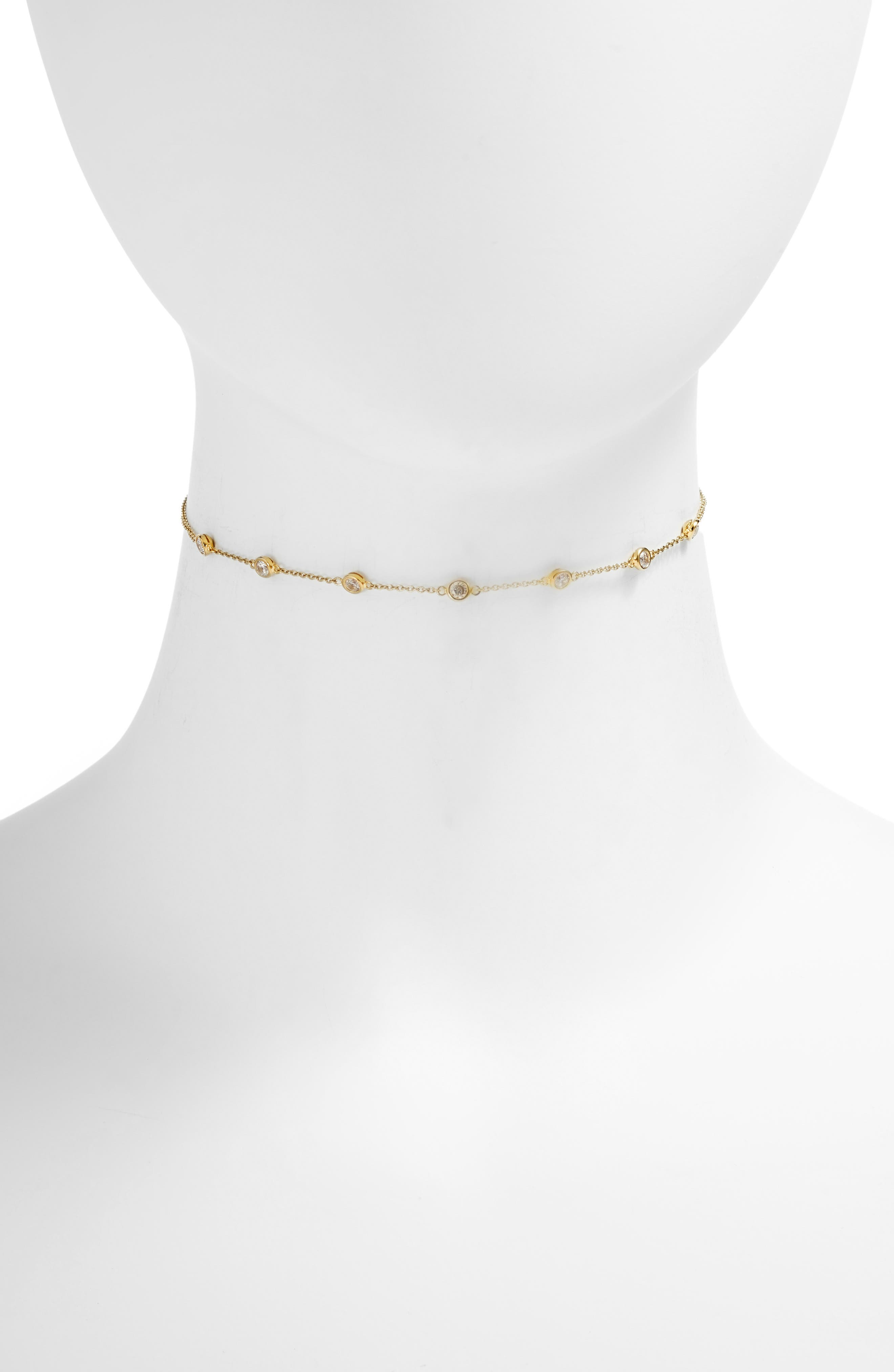 Elizabeth Choker Necklace,                         Main,                         color, Gold