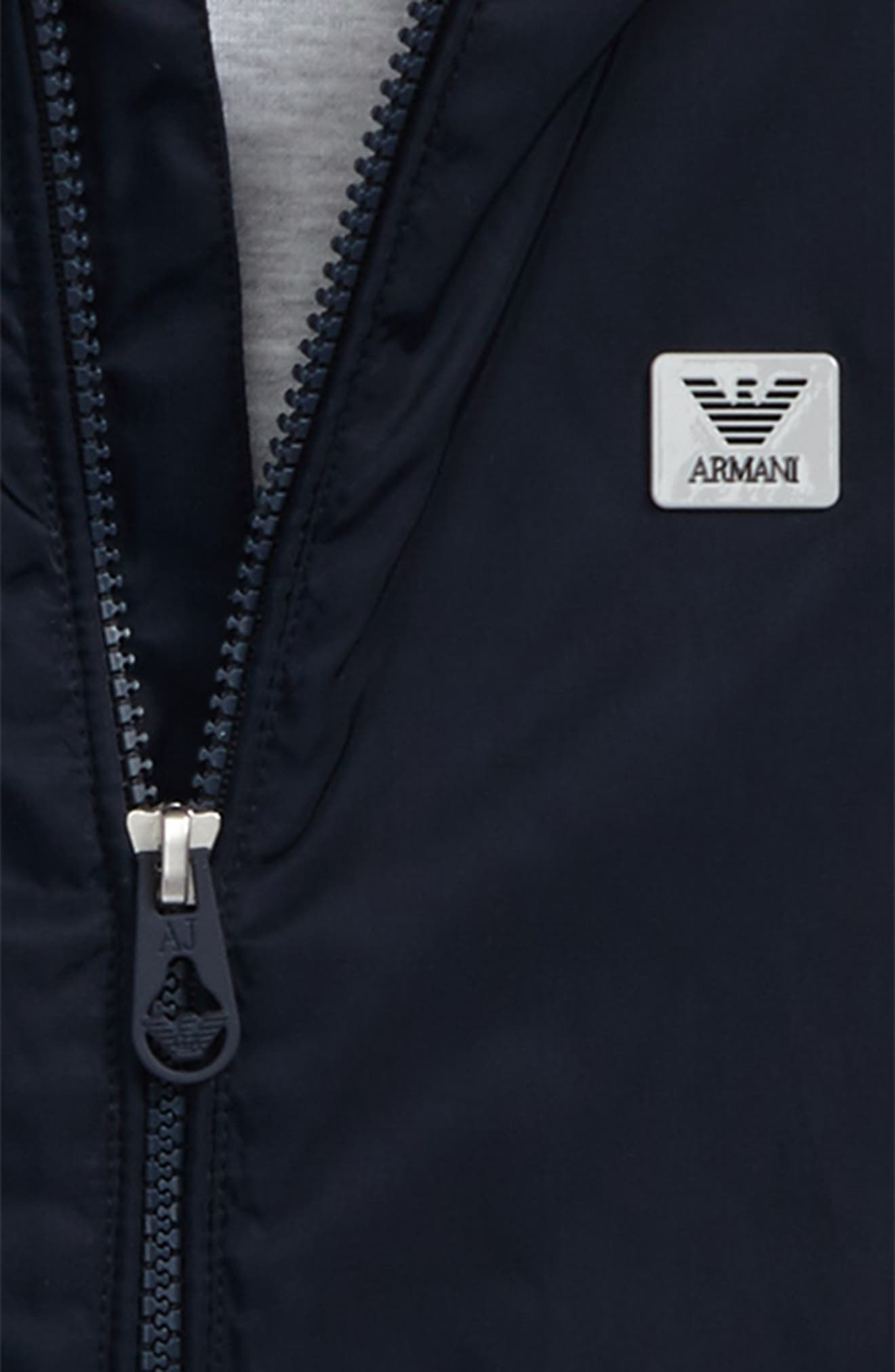 Alternate Image 3  - Armani Junior Logo Hooded Jacket (Little Boys & Big Boys)