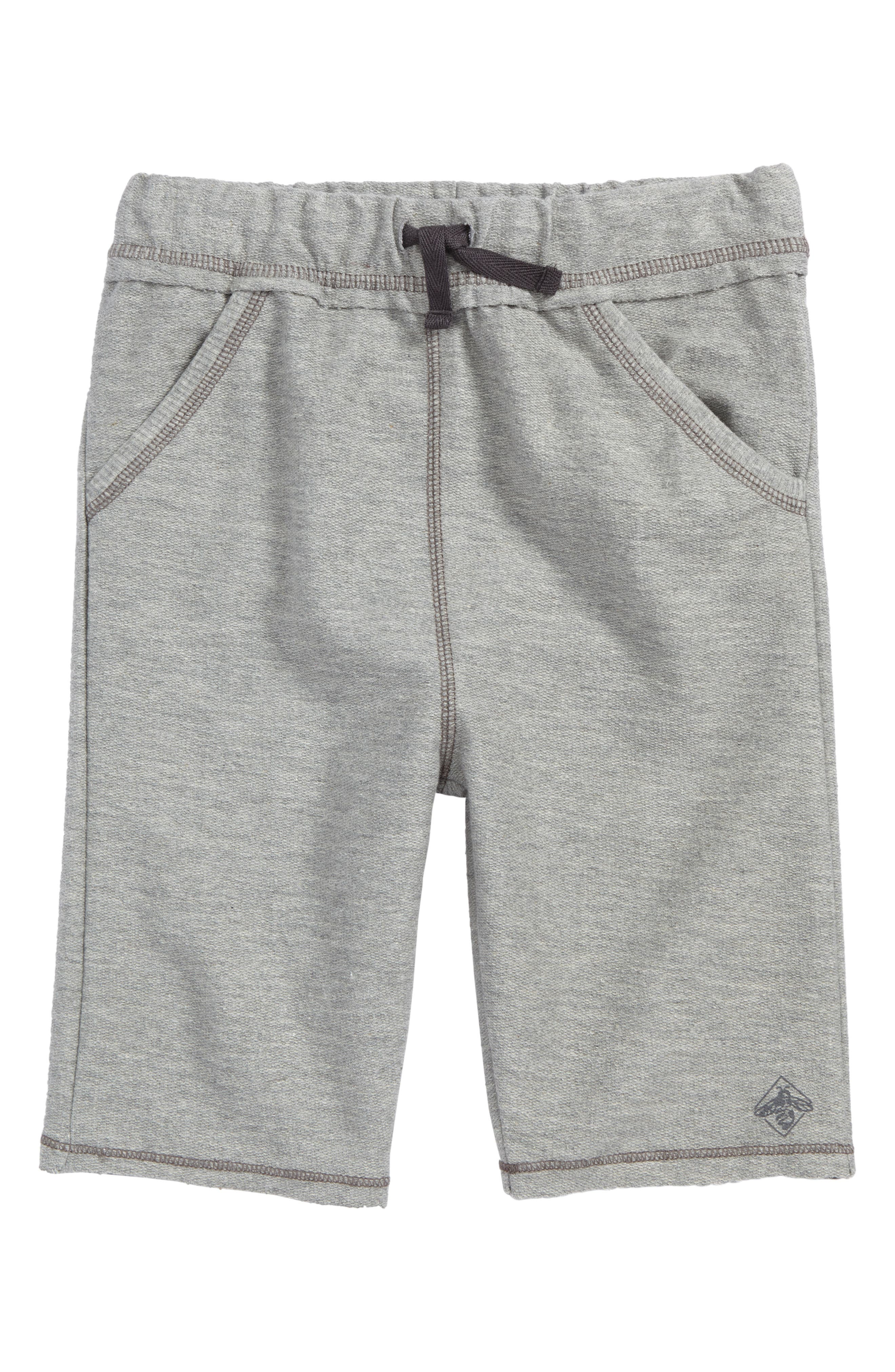 Organic French Terry Cotton Sweatpants,                         Main,                         color, Heather Grey